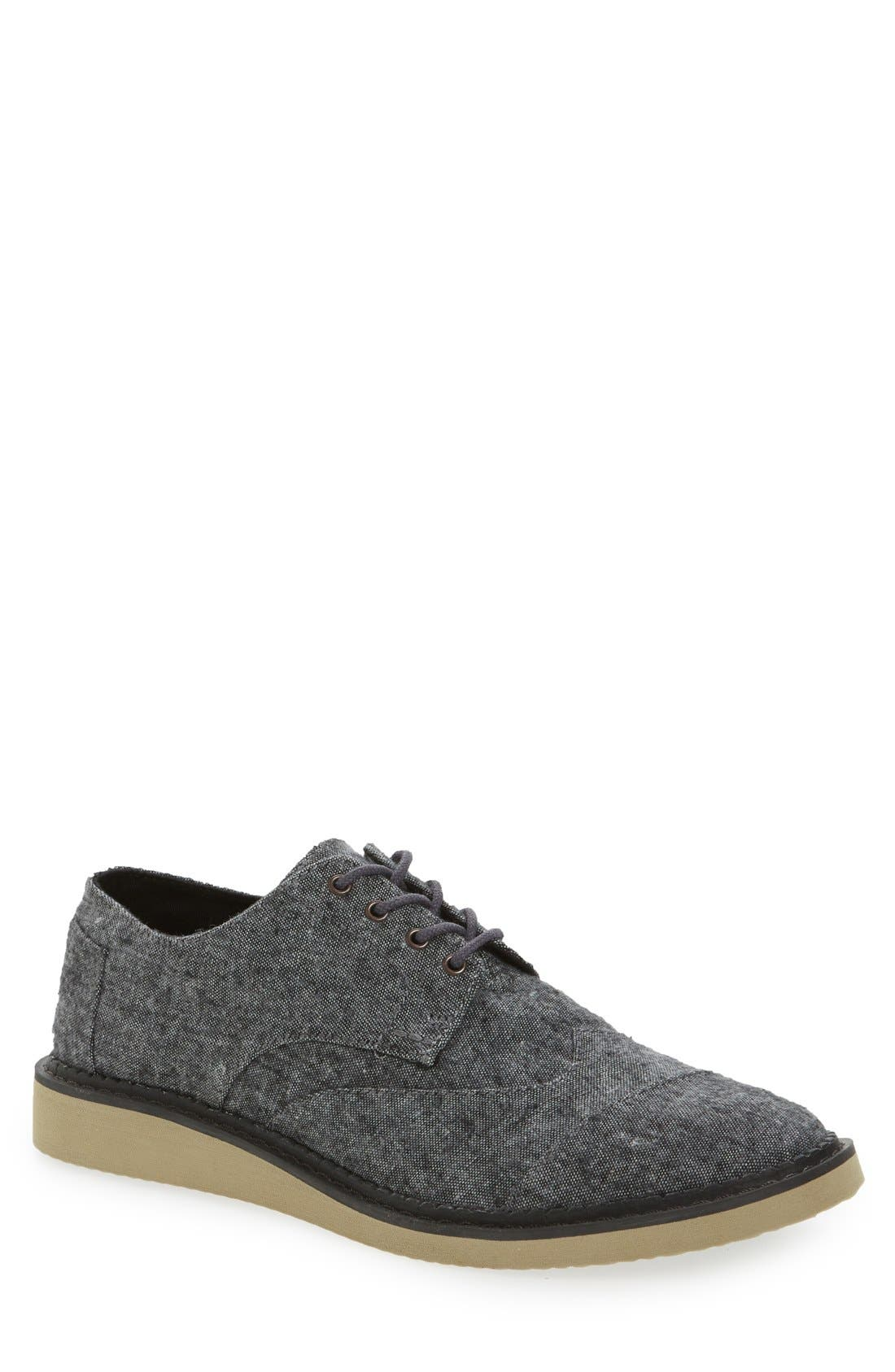 'Classic Brogue' Cotton Twill Derby,                             Main thumbnail 6, color,