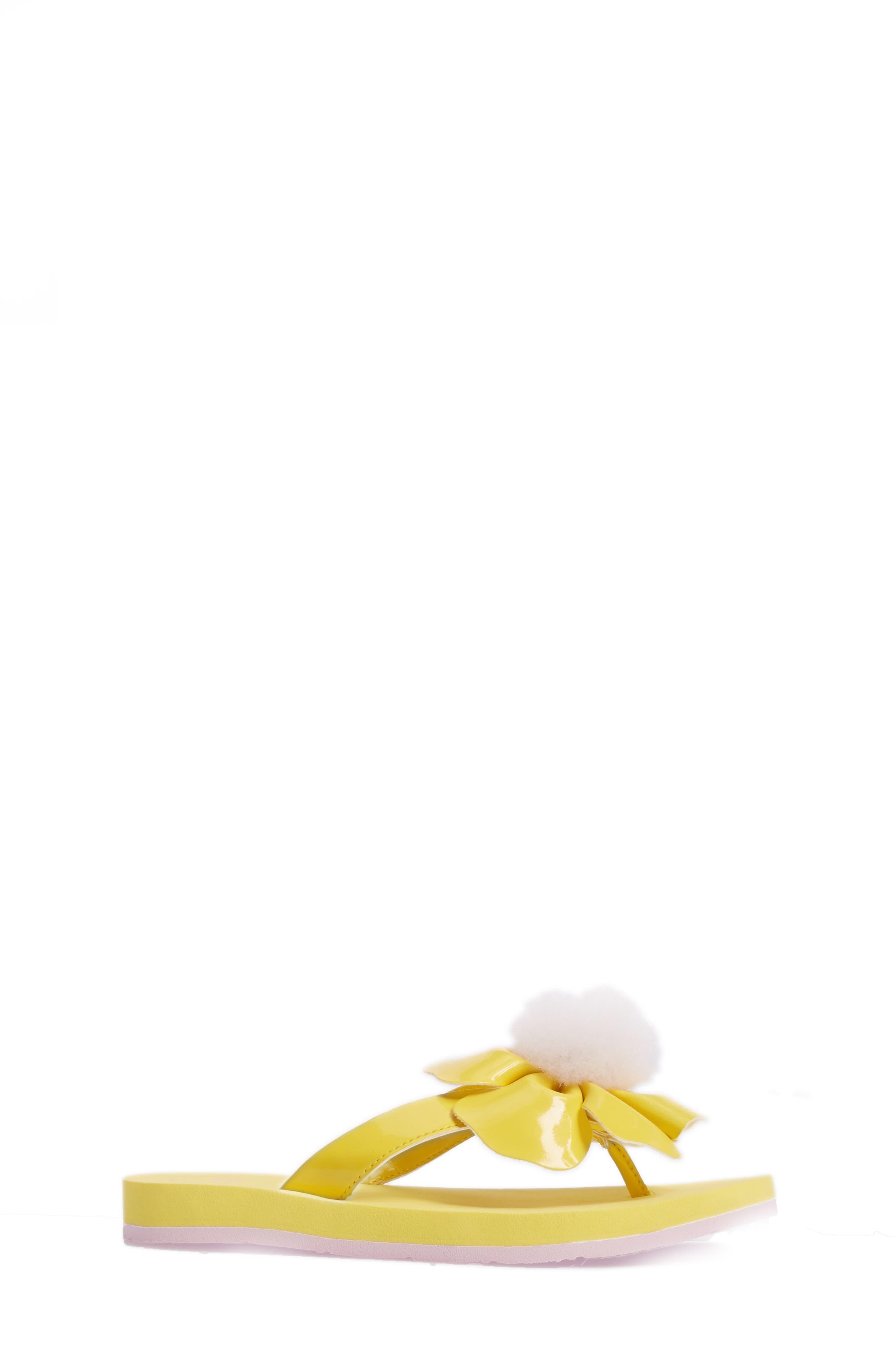 Poppy Genuine Shearling Flip Flop,                             Alternate thumbnail 9, color,