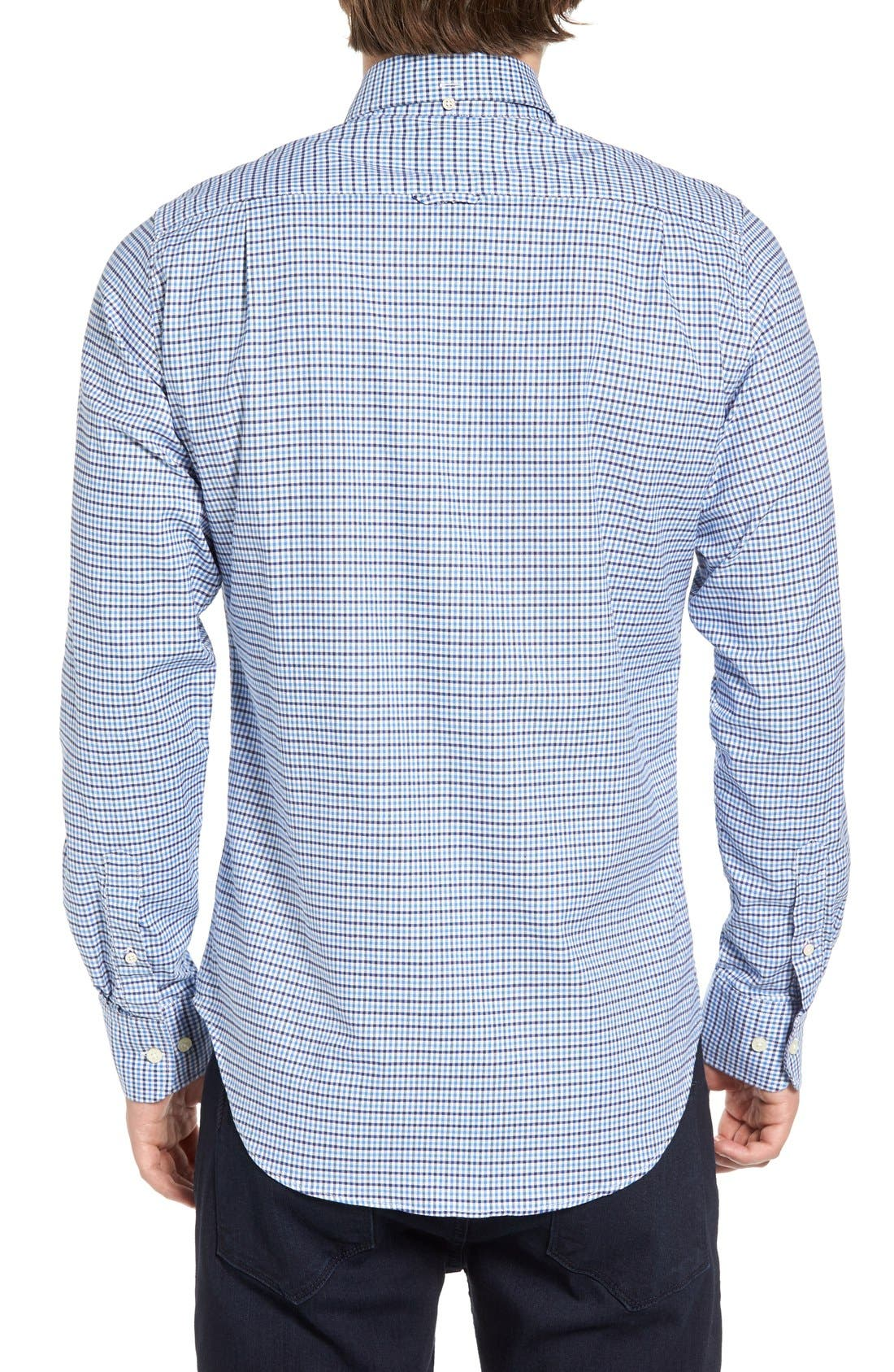 Gingham Fitted Sport Shirt,                             Alternate thumbnail 7, color,