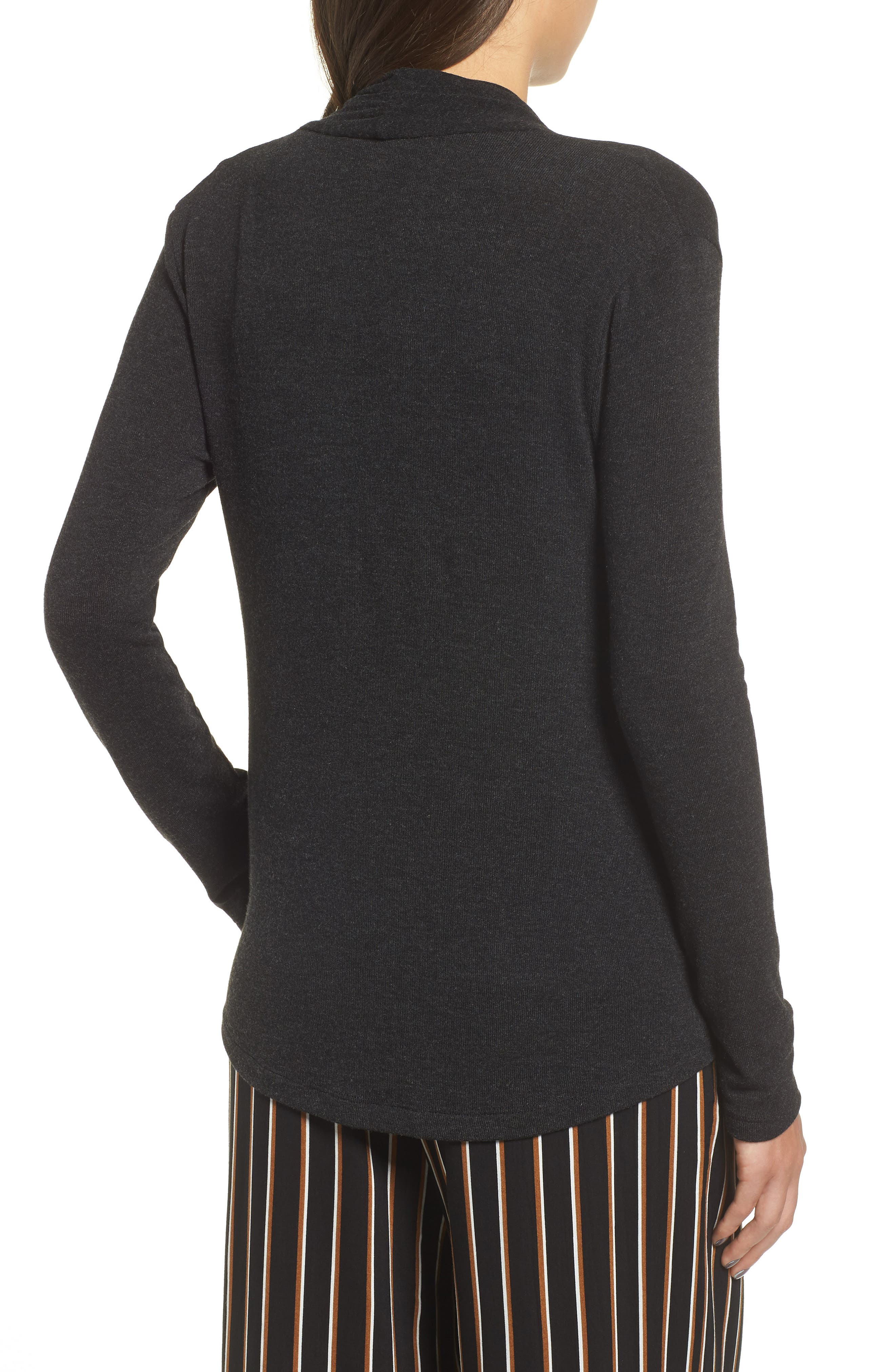 ALL IN FAVOR,                             Knit Surplice Top,                             Alternate thumbnail 2, color,                             001
