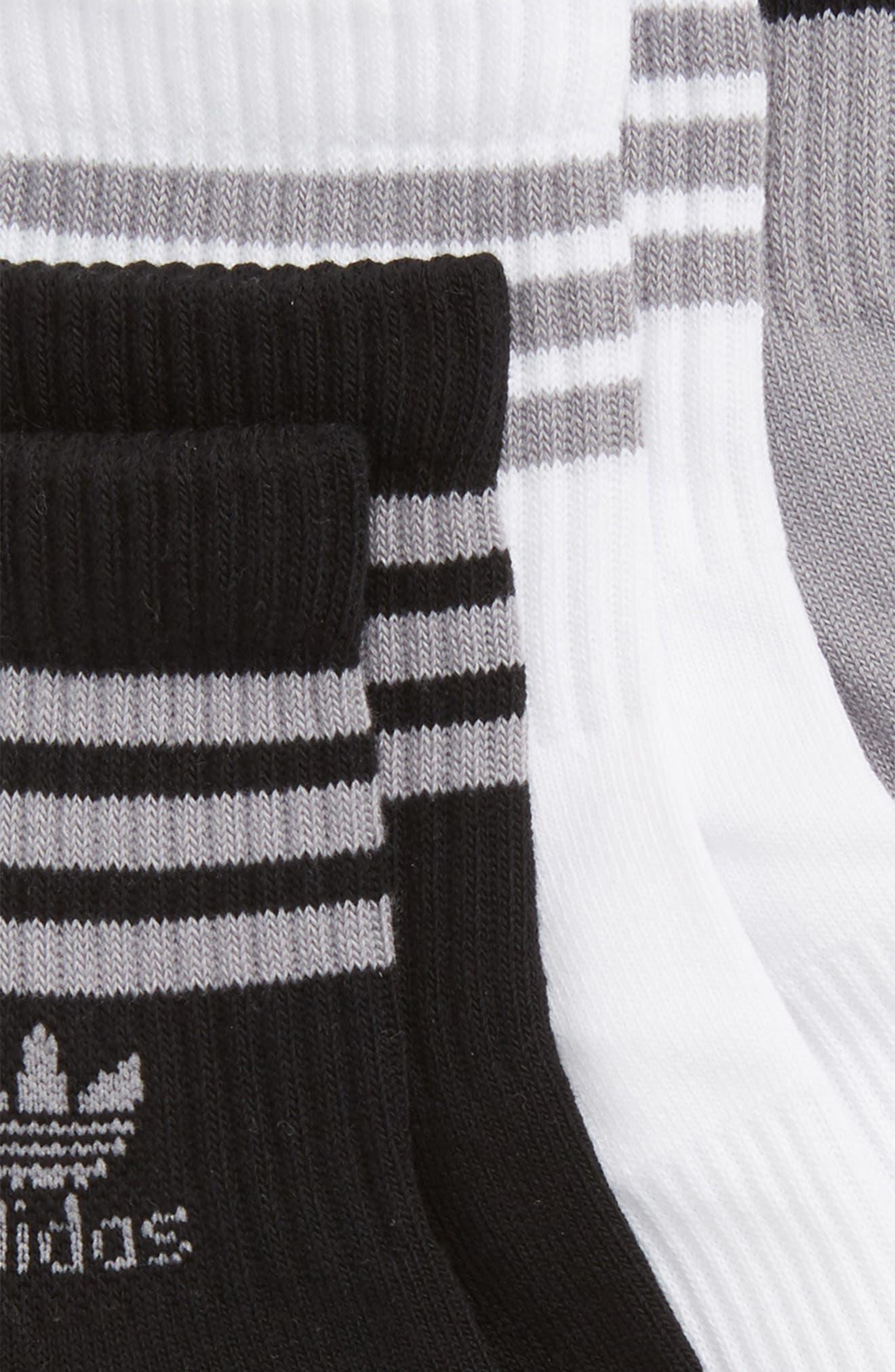3-Pack Ribbed Ankle Crew Socks,                             Alternate thumbnail 2, color,                             020