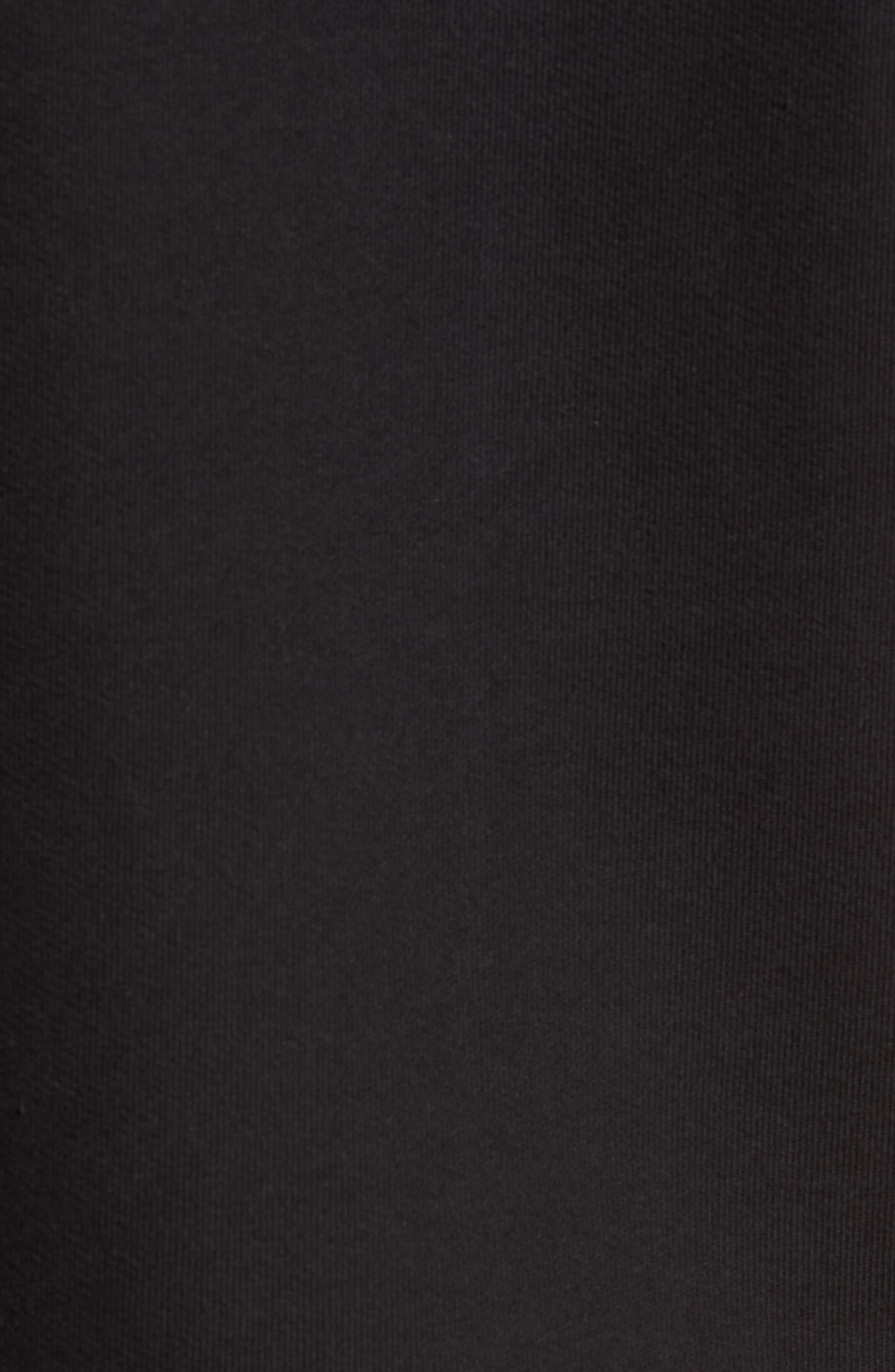 Crow Short Sleeve Hoodie,                             Alternate thumbnail 5, color,                             BLACK