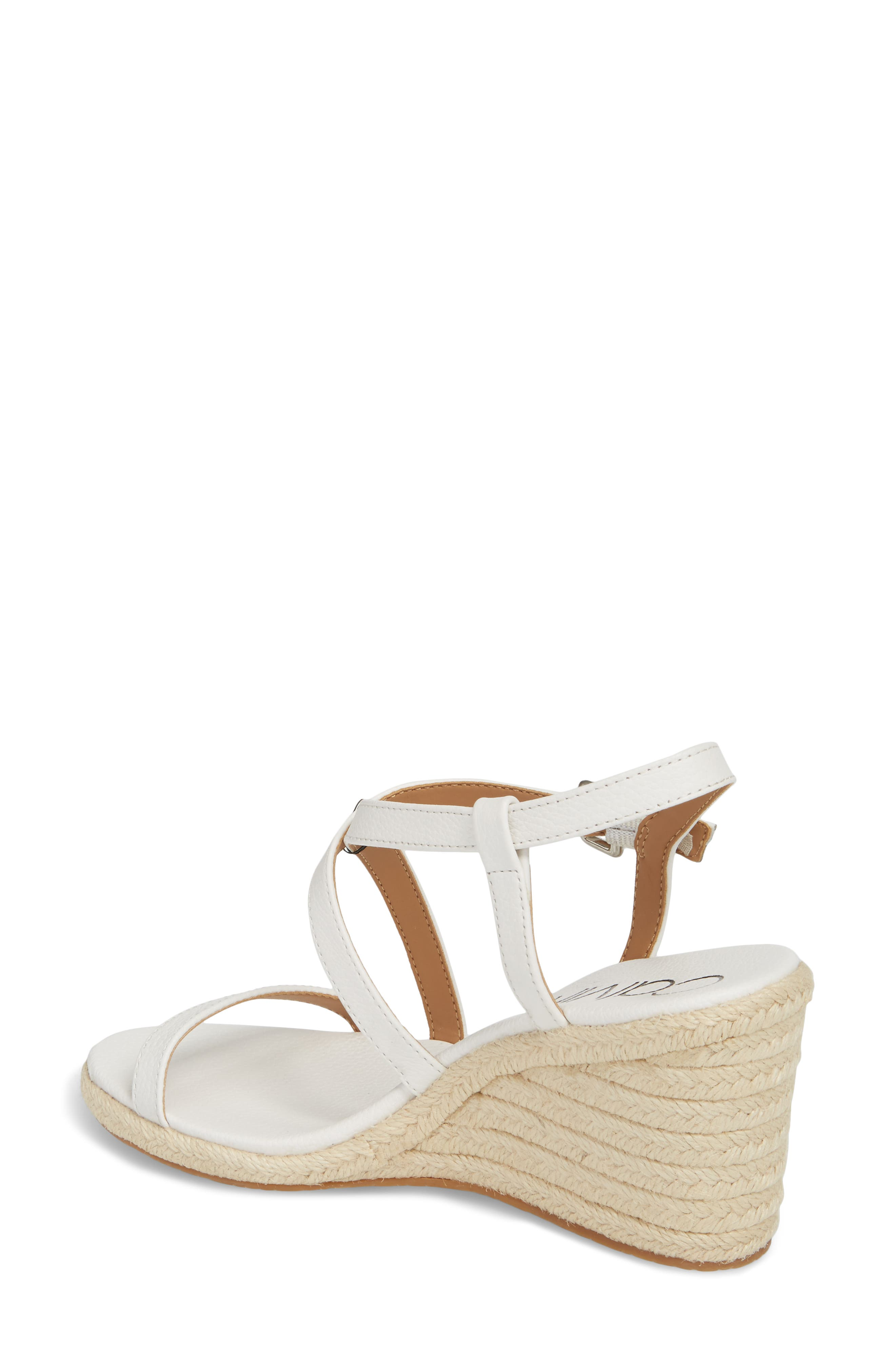 Bellemine Espadrille Wedge Sandal,                             Alternate thumbnail 2, color,                             PLATINUM WHITE PEBBLE LEATHER