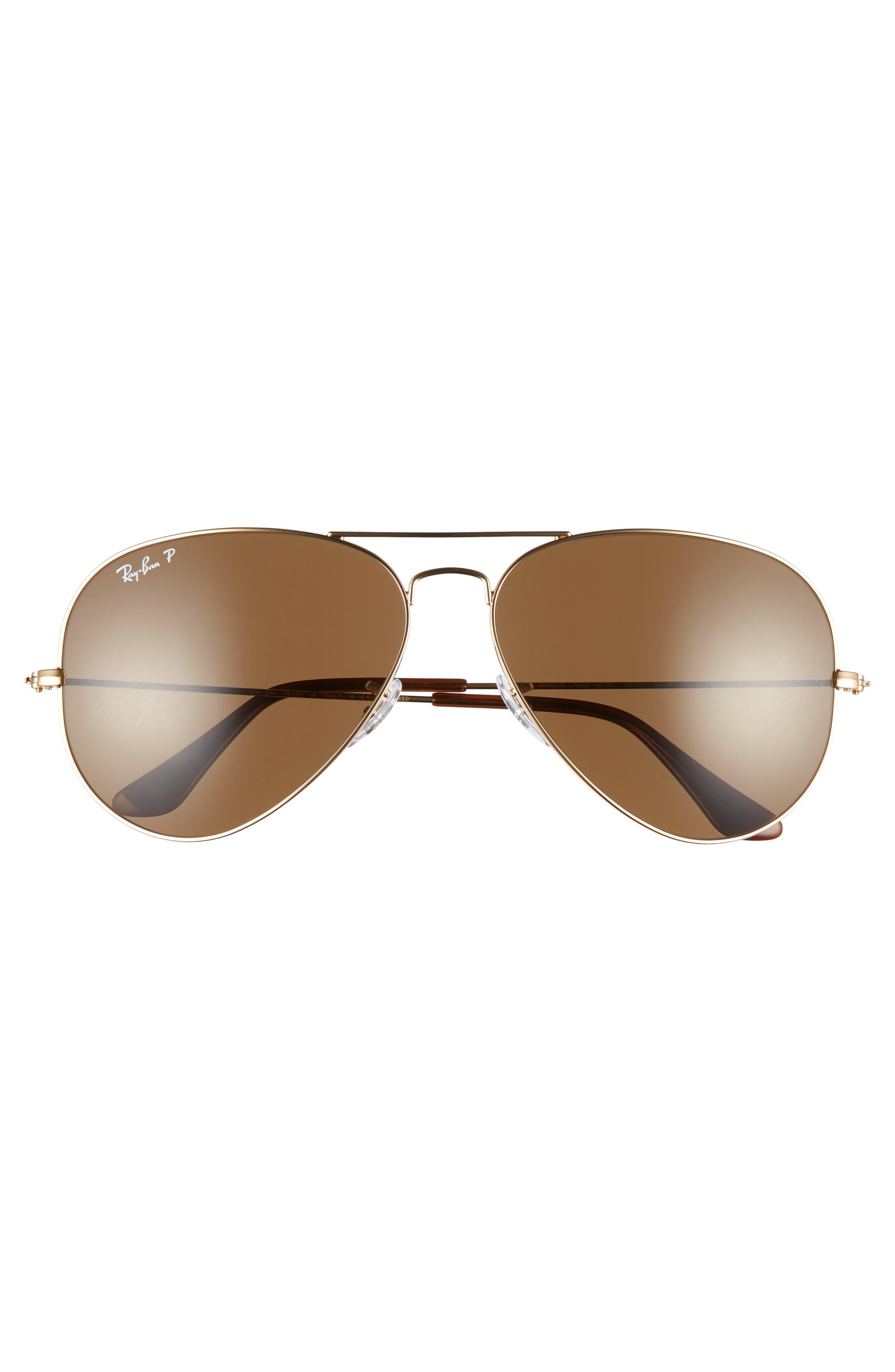 Original 62mm Oversize Polarized Aviator Sunglasses,                             Alternate thumbnail 3, color,                             710