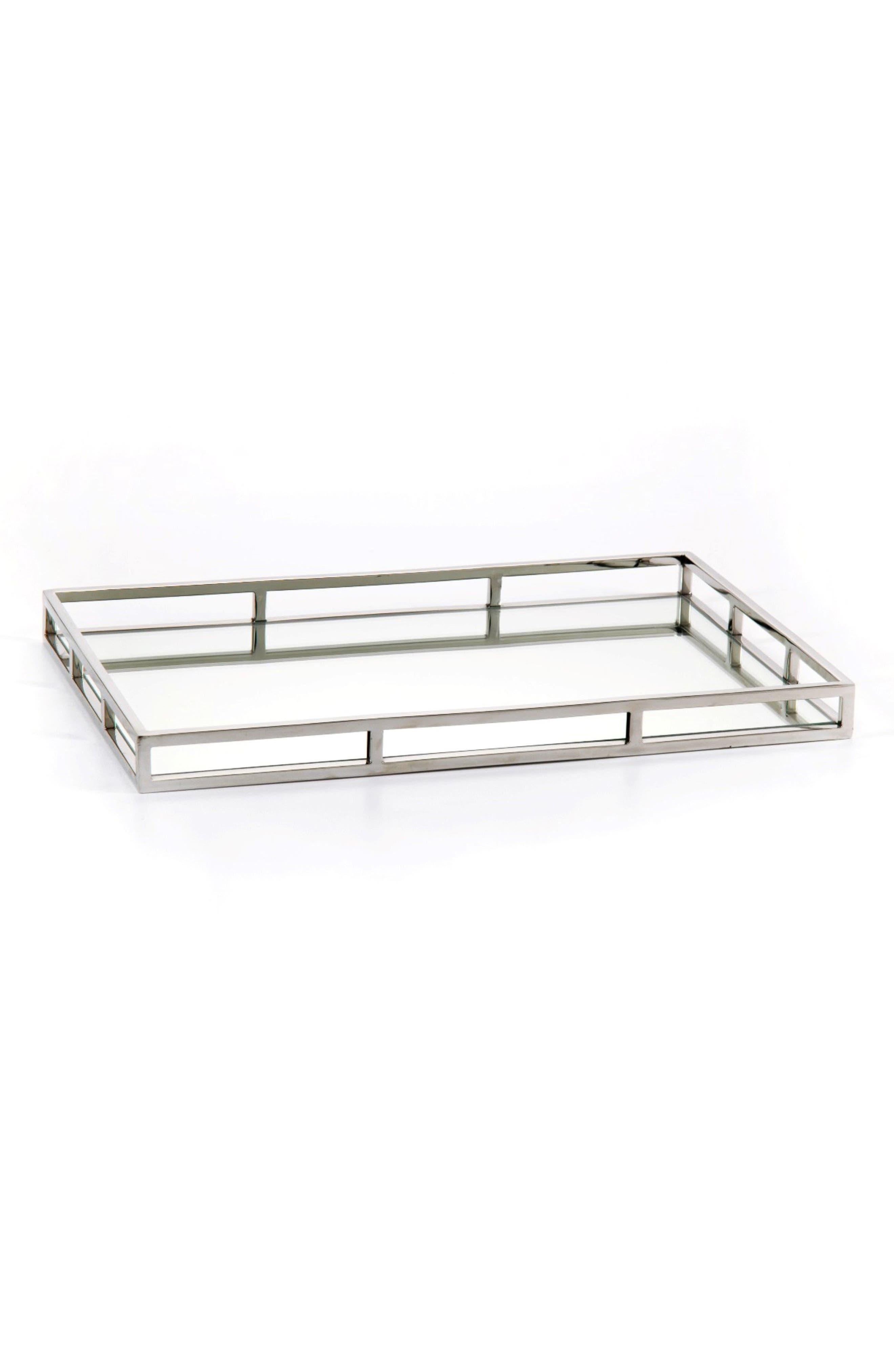 Venturi Rectangular Mirrored Tray,                         Main,                         color, 040