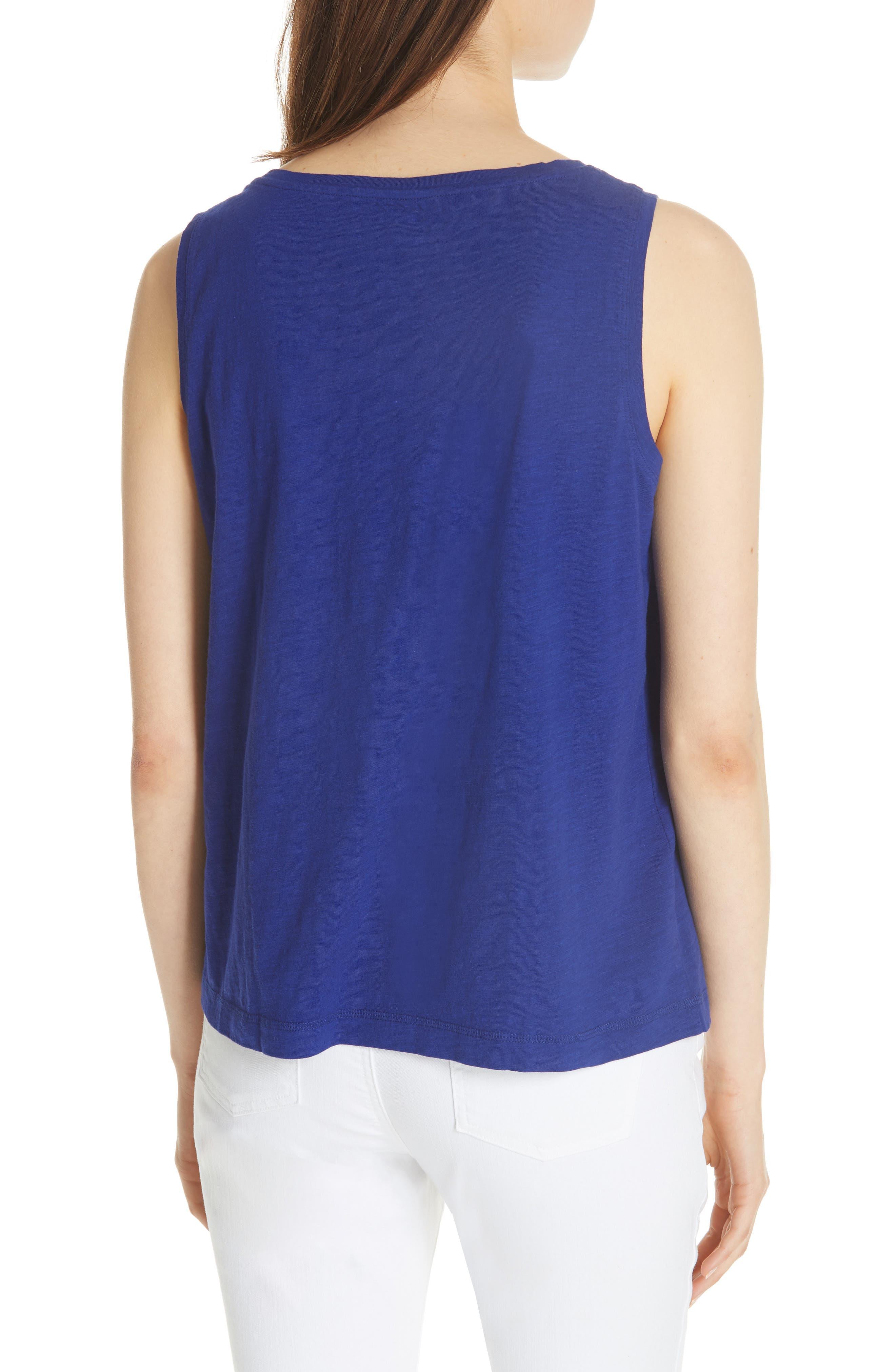 Short Organic Cotton Shell,                             Alternate thumbnail 2, color,                             BLUE VIOLET