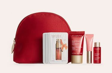Choose a free 5-piece gift with $65 Clarins purchase. Up to $73 value.