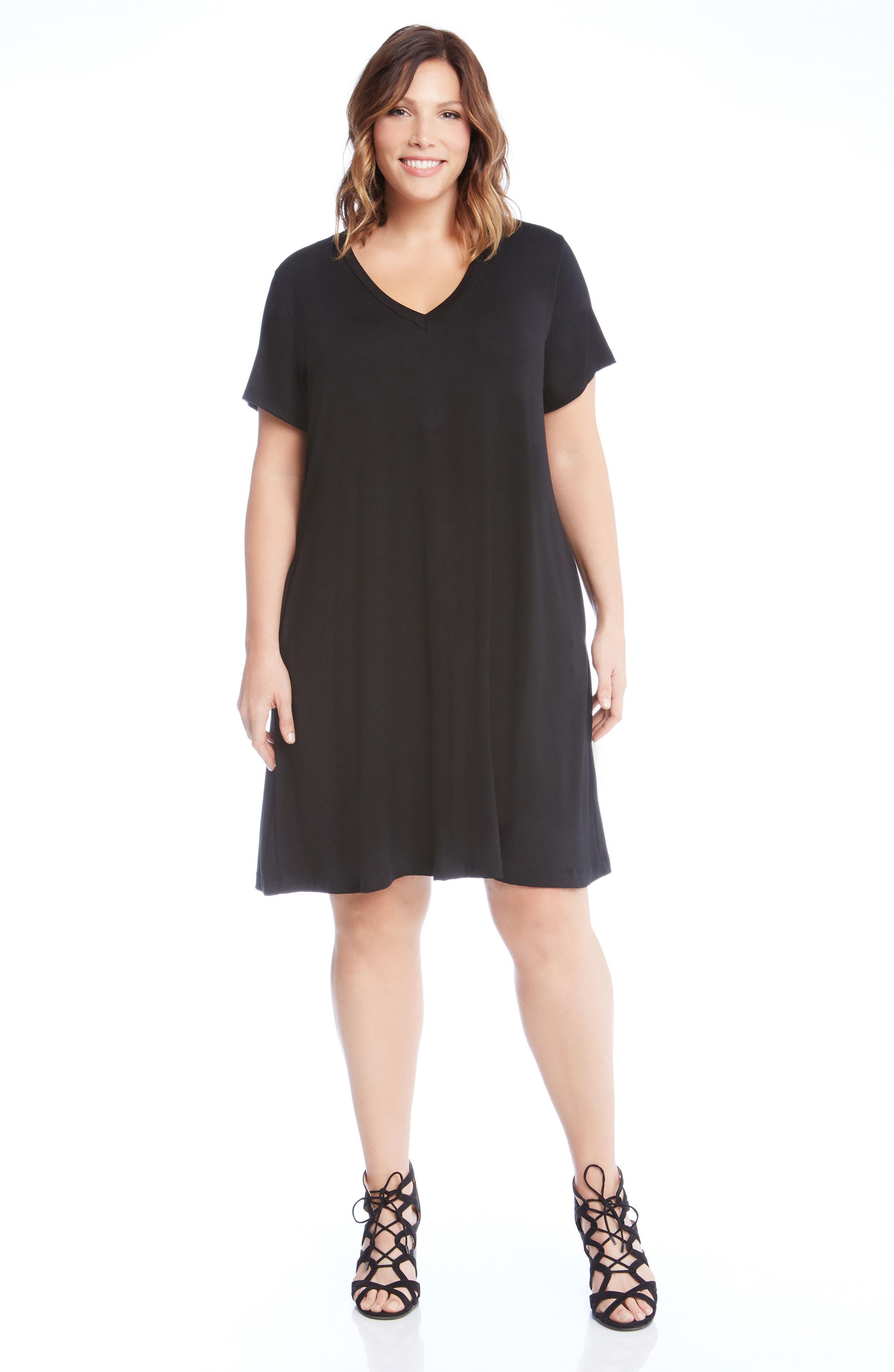 Quinn Pocket Shift Dress,                             Alternate thumbnail 3, color,                             001