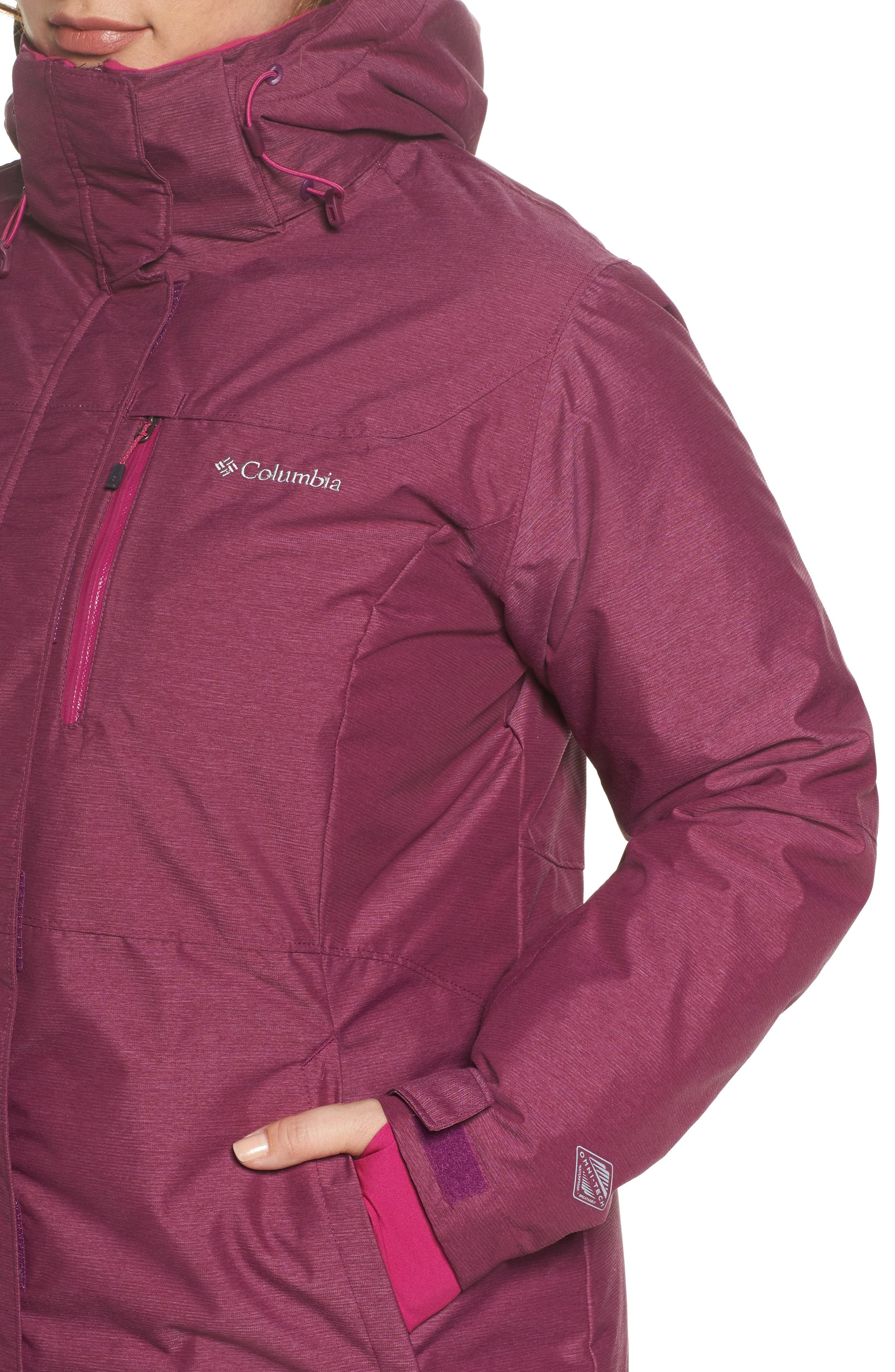 Alpine Action Waterproof Omni-Heat<sup>®</sup> Hooded Jacket,                             Alternate thumbnail 10, color,