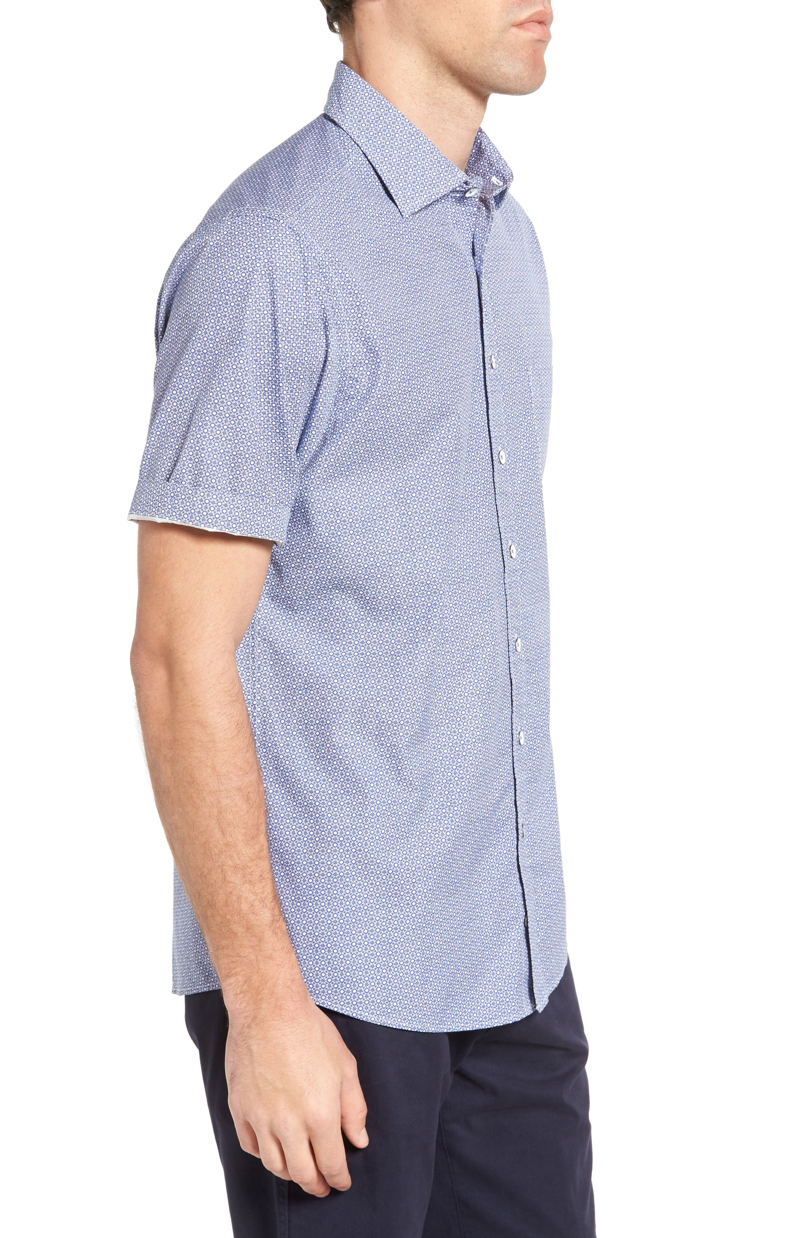 Sullivan Regular Fit Print Sport Shirt,                             Alternate thumbnail 3, color,                             459
