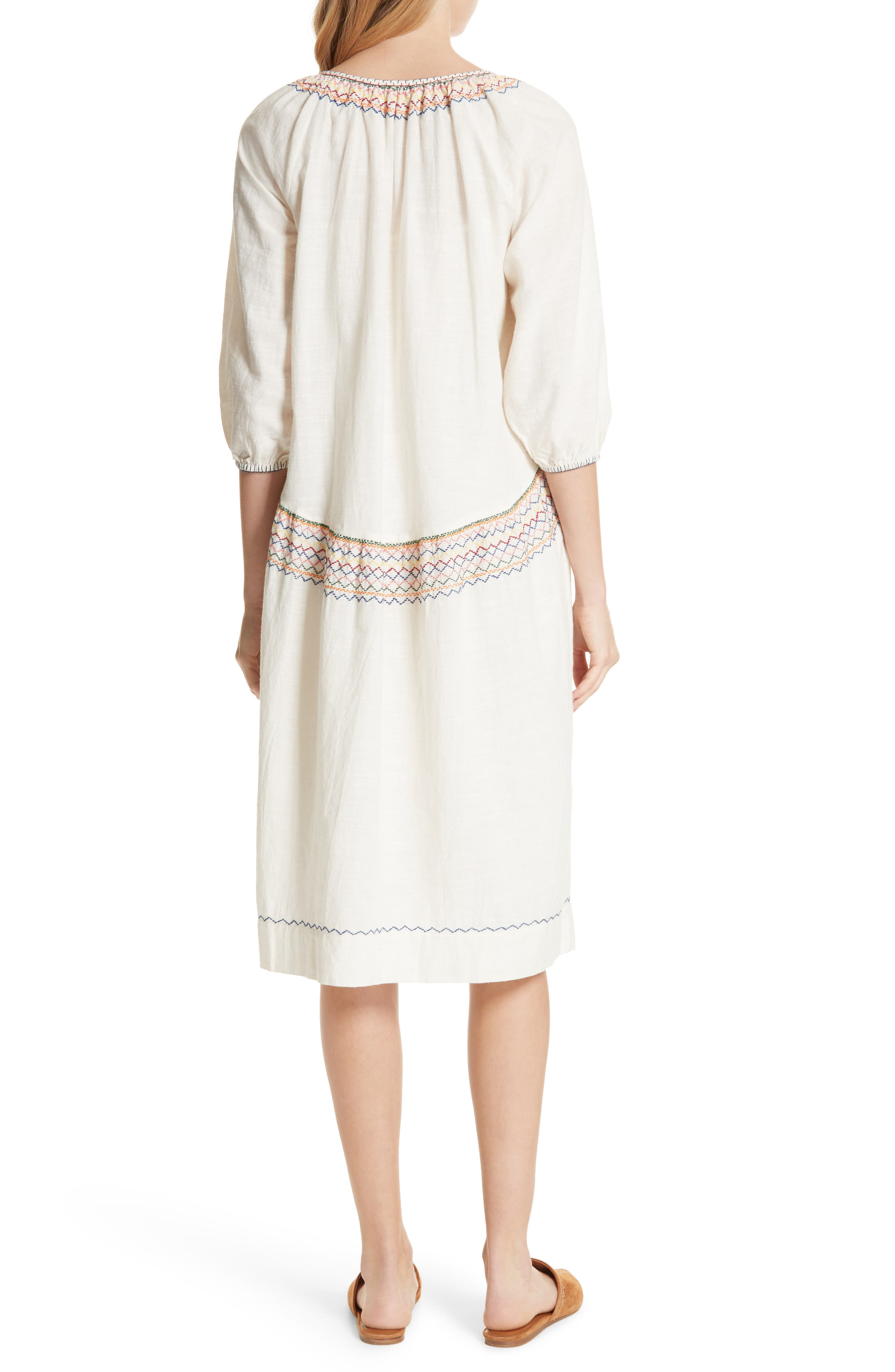 The Siesta Embroidered Dress,                             Alternate thumbnail 2, color,                             100