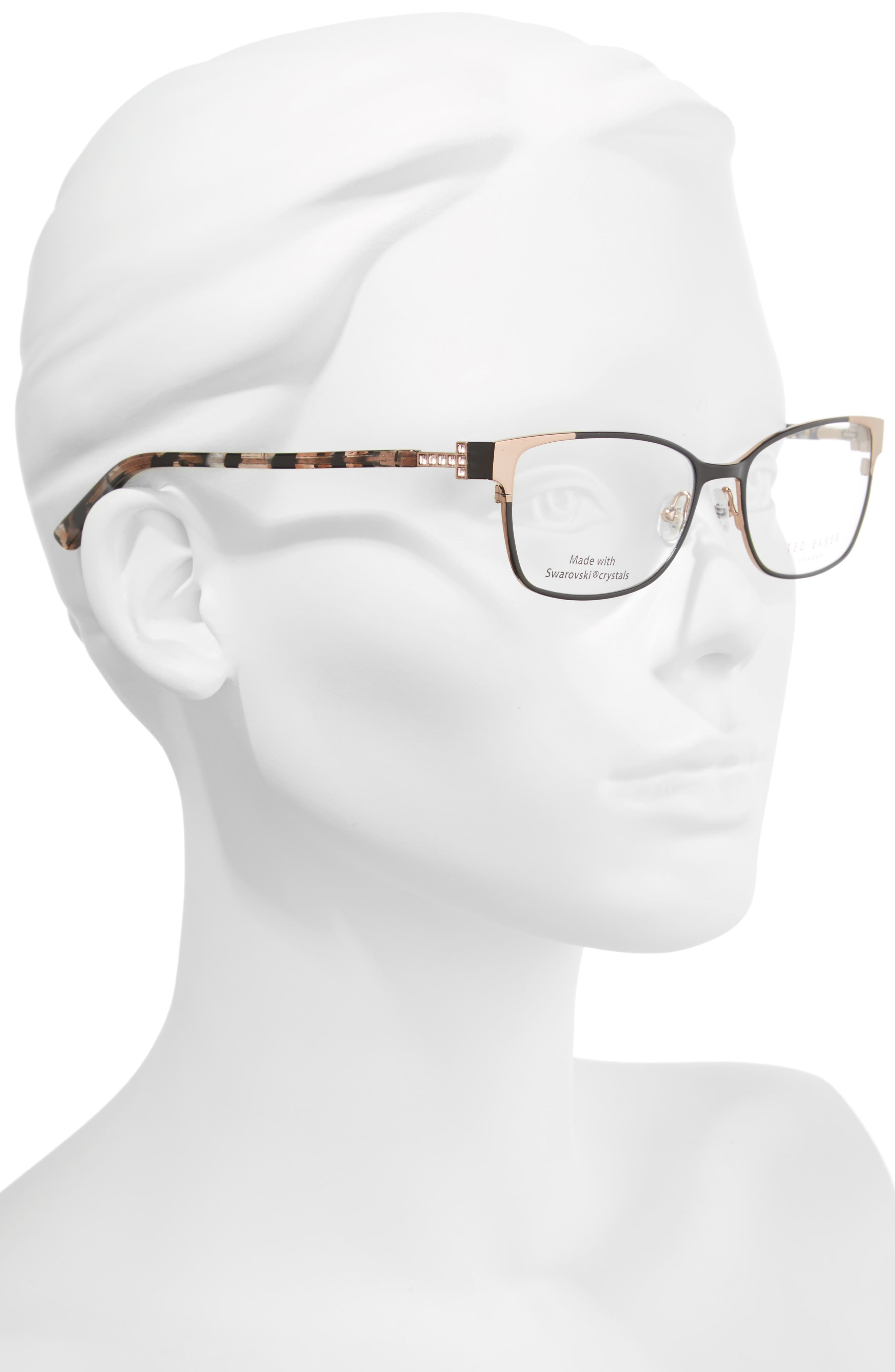 52mm Crystal Rectangular Optical Glasses,                             Alternate thumbnail 2, color,                             001