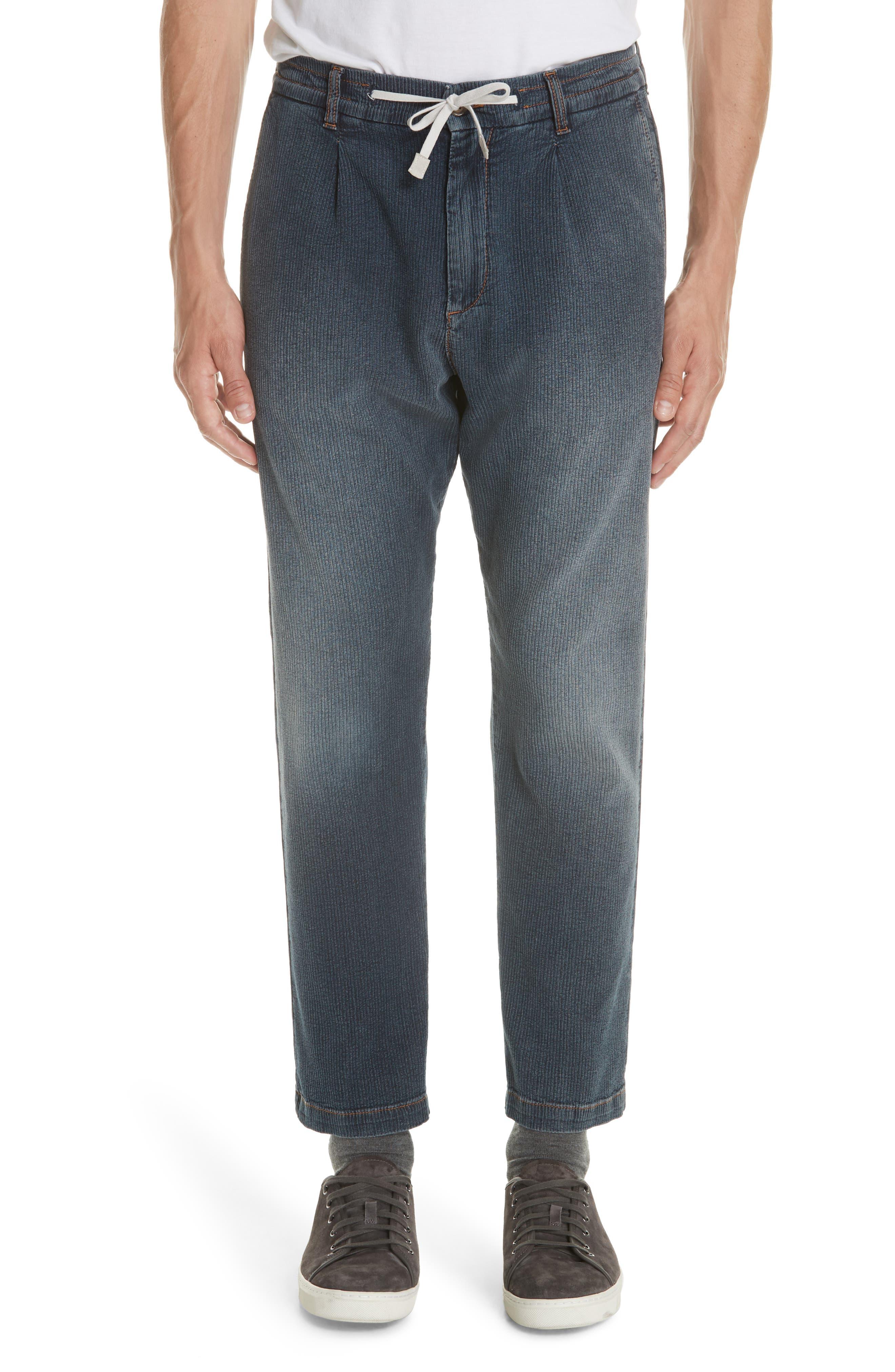 Denim Corduroy Jogger Pants,                         Main,                         color, NAVY