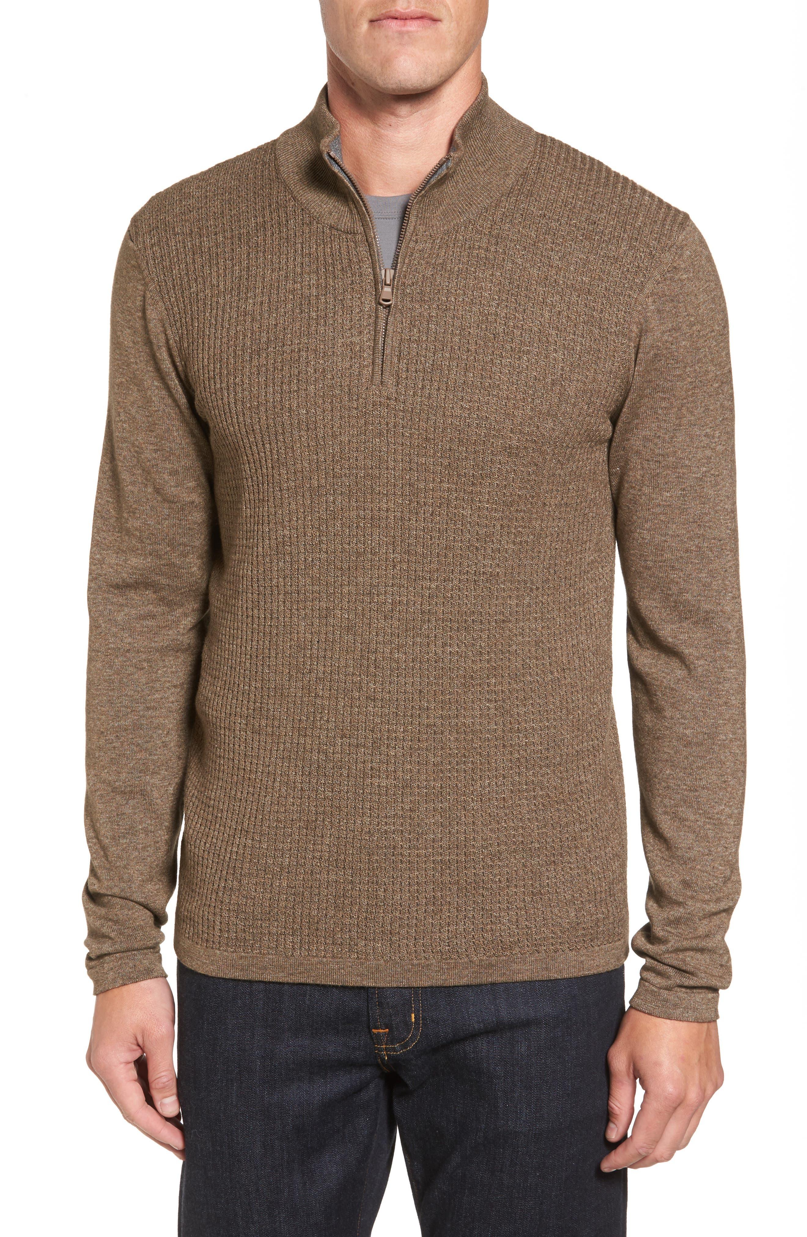 Higgins Quarter Zip Sweater,                             Main thumbnail 2, color,
