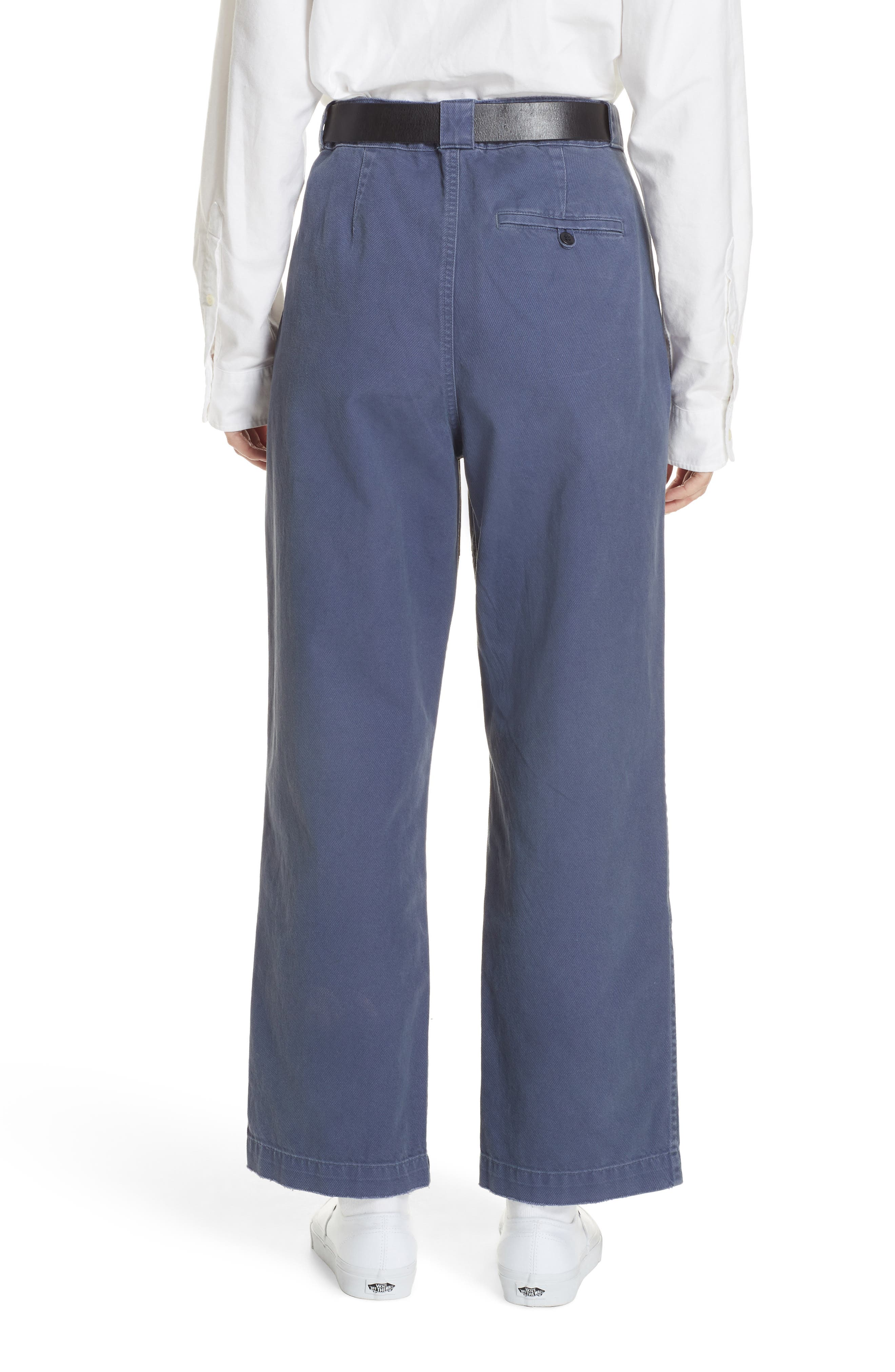 Patched Wide Leg Pants,                             Alternate thumbnail 2, color,                             NEW CLASSIC NAVY/ LIGHT NAVY