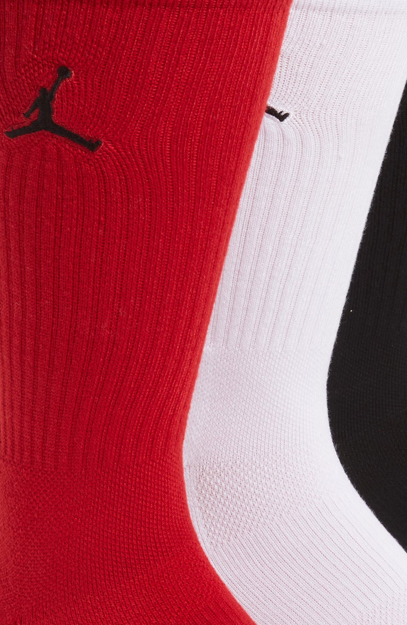 NIKE,                             Jumpman 3-Pack Dry Crew Socks,                             Alternate thumbnail 2, color,                             011