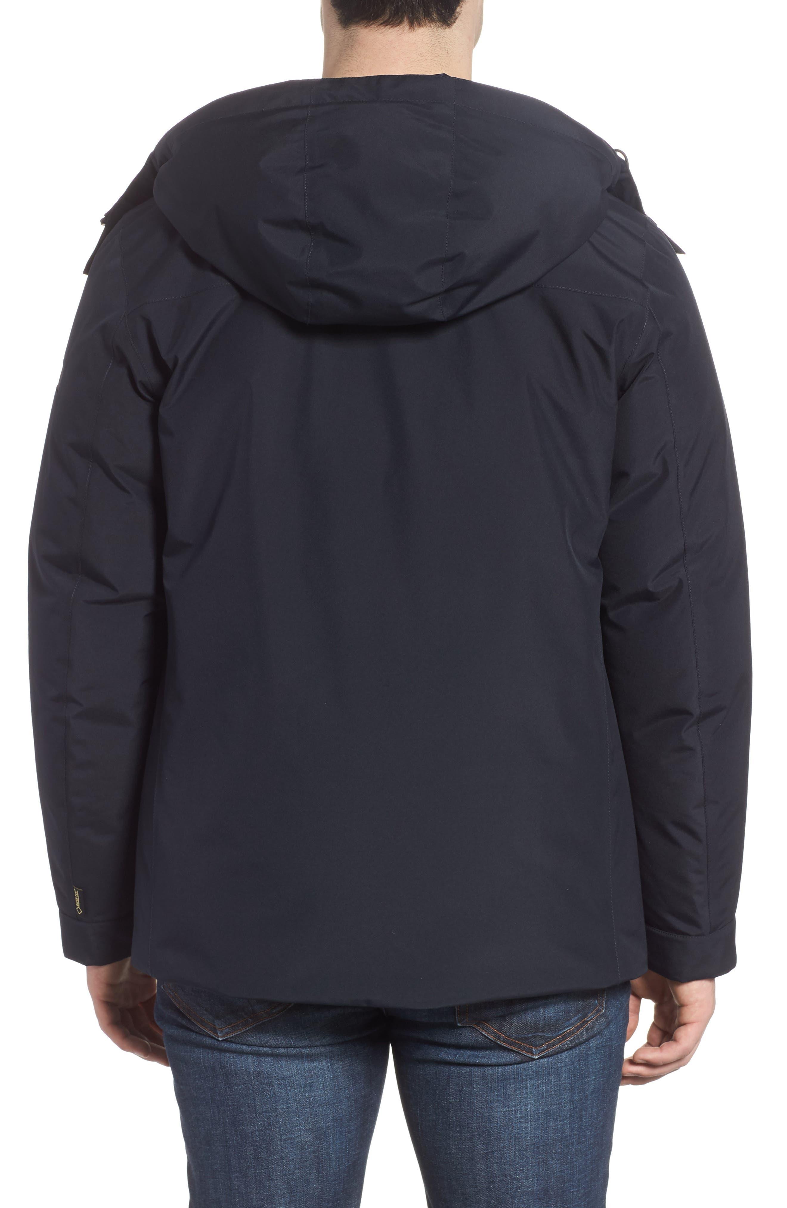 Waterproof Gore-Tex<sup>®</sup> Alpine Jacket,                             Alternate thumbnail 2, color,                             NAVY MELTON