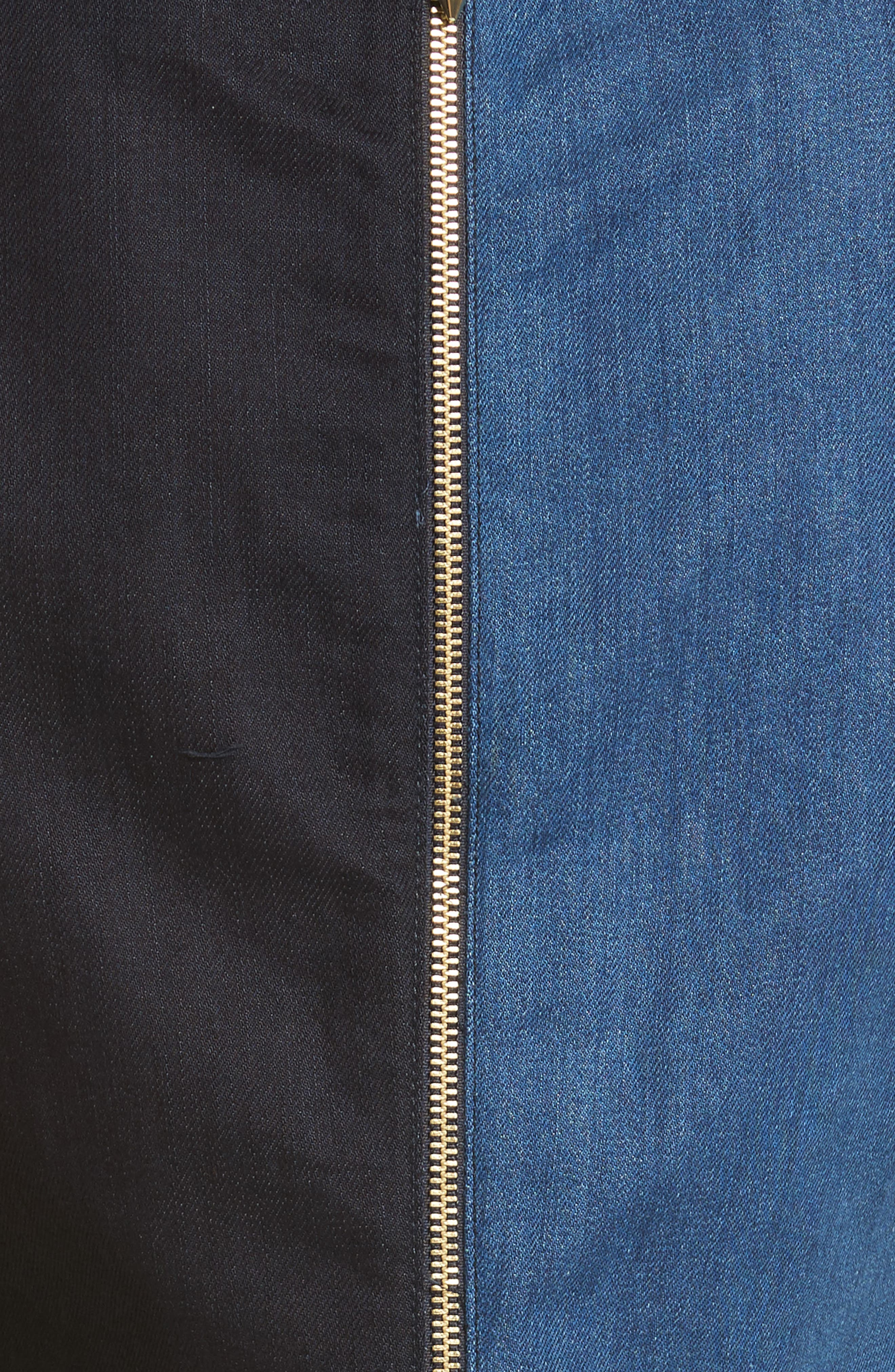 Ted Baker Morfee London Colorblock Denim A-Line Dress,                             Alternate thumbnail 5, color,                             431
