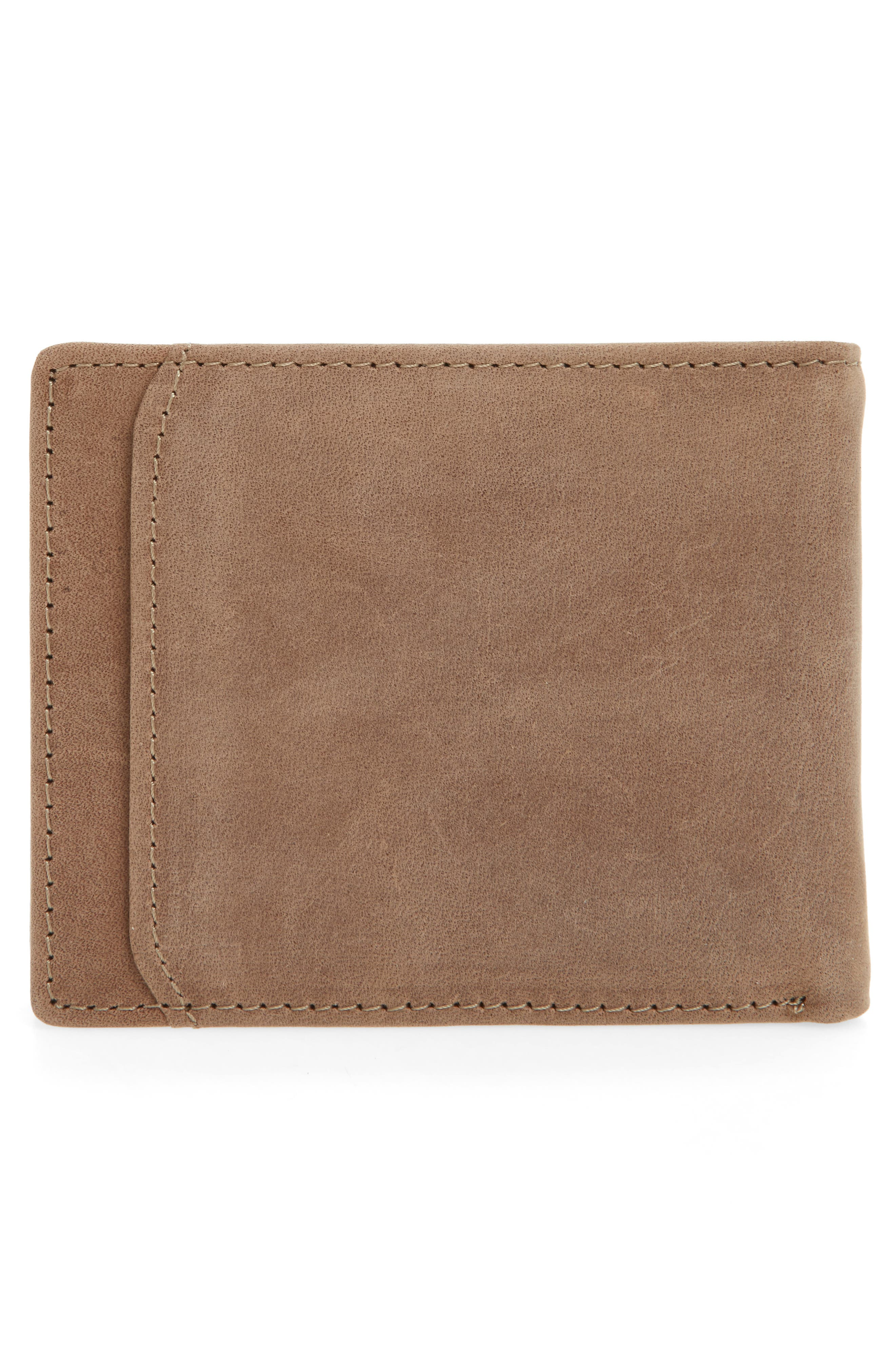 Upton Leather Wallet,                             Alternate thumbnail 3, color,