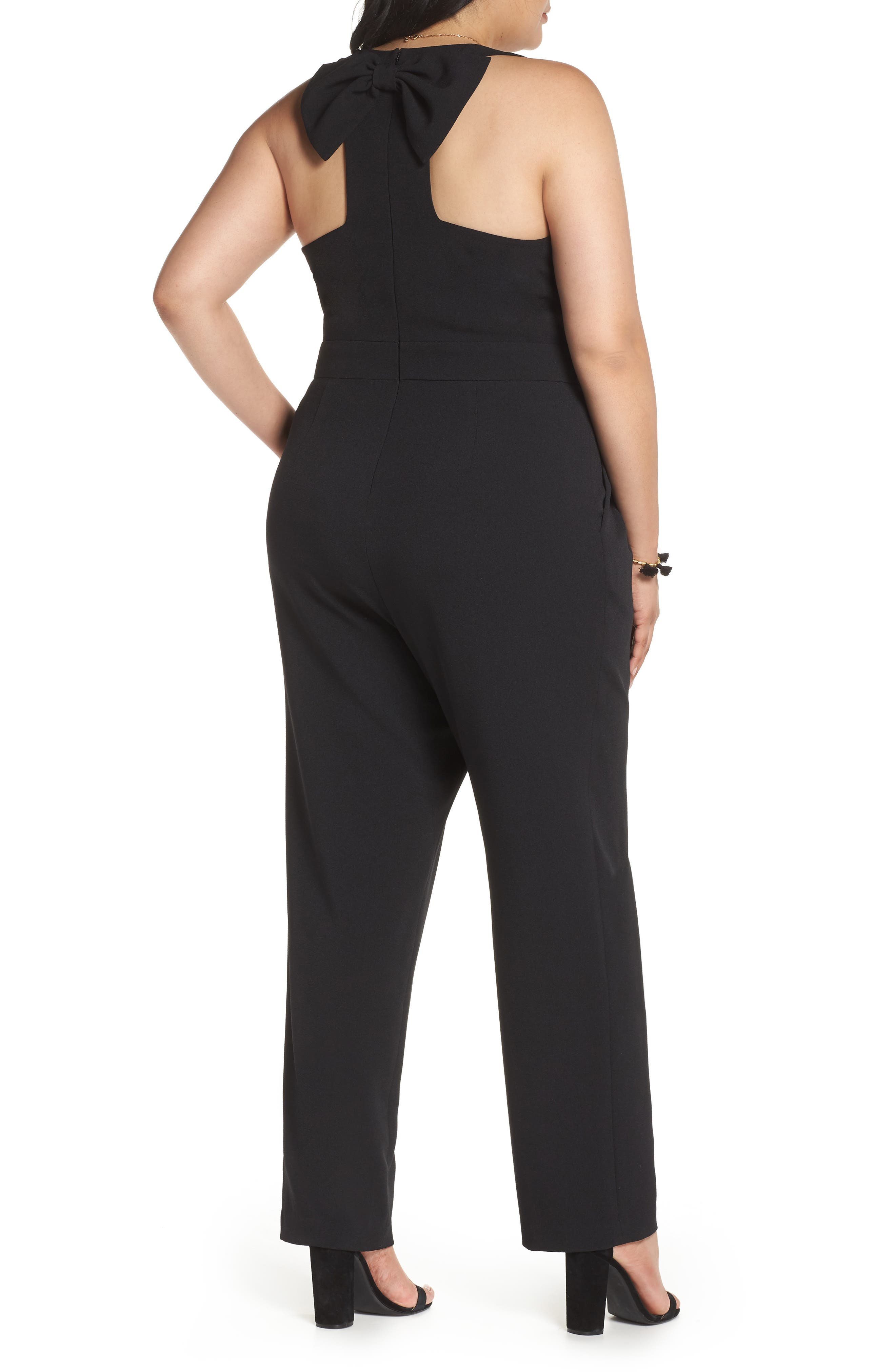 Bow Back Jumpsuit,                             Alternate thumbnail 2, color,                             001