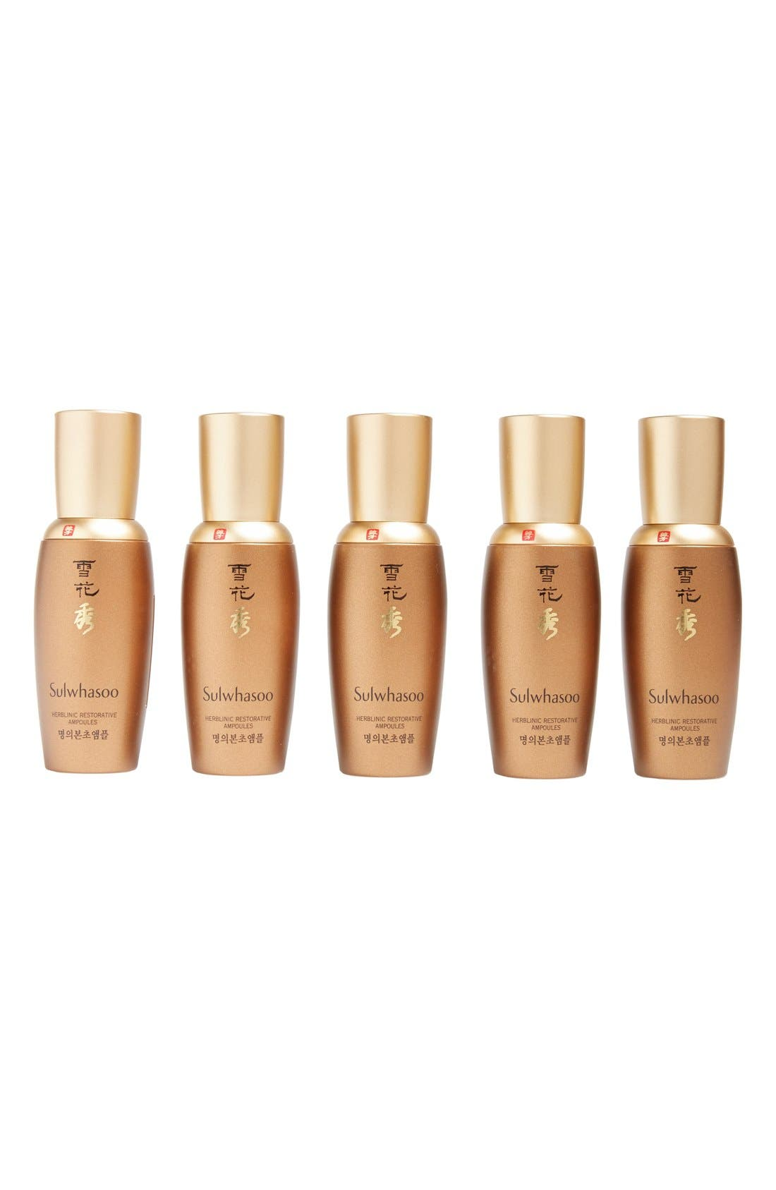 SULWHASOO Herblinic Restorative Ampoules, Main, color, 000