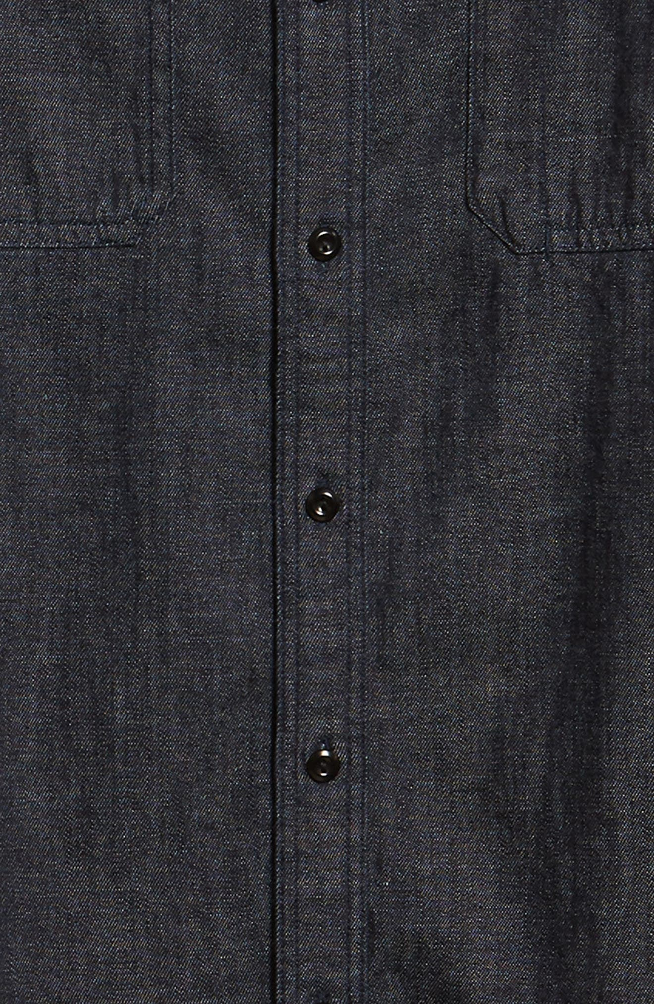 Benning Chambray Slim Fit Utility Shirt,                             Alternate thumbnail 6, color,                             020