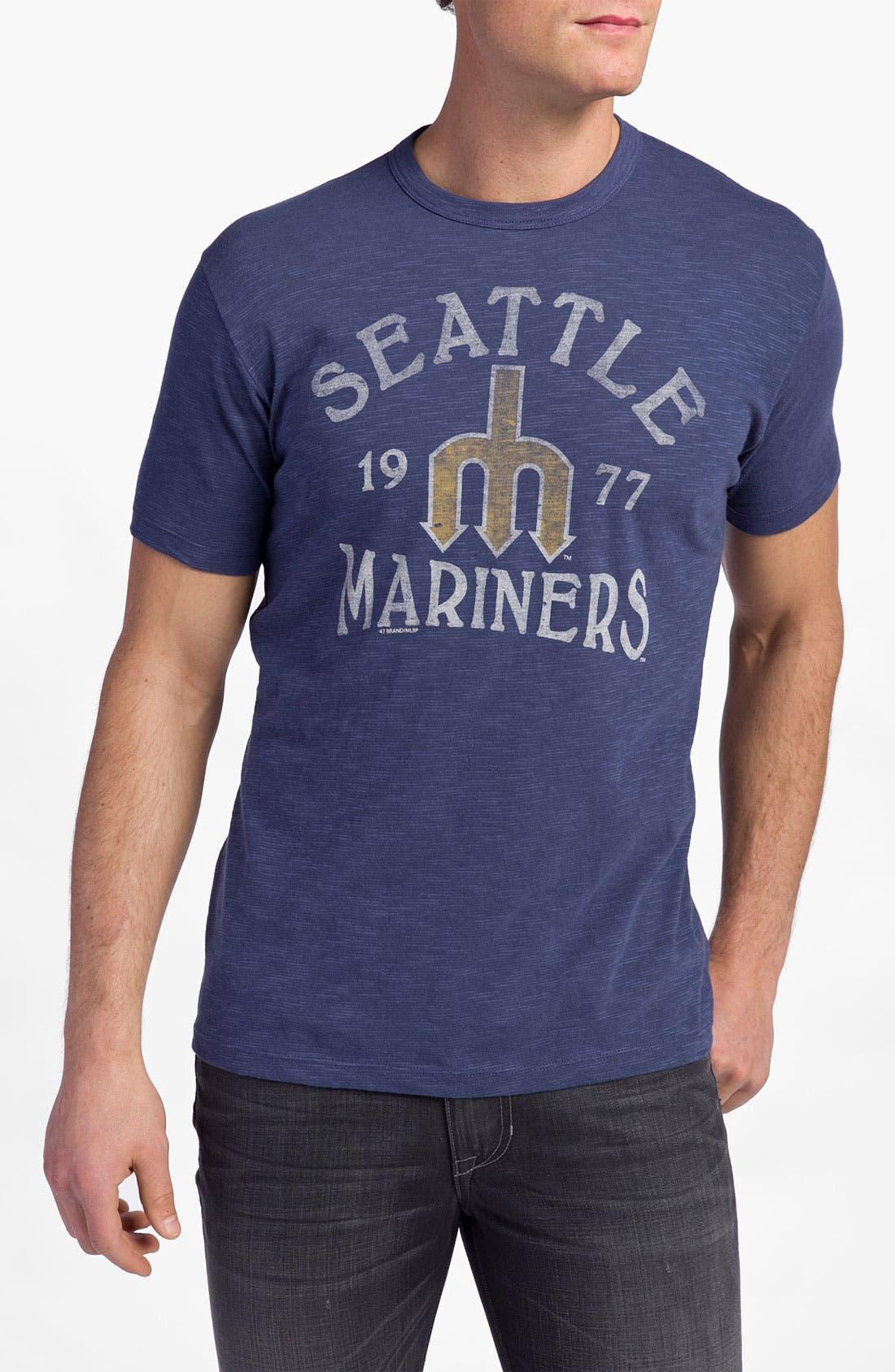 'Chicago Cubs' Regular Fit Crewneck T-Shirt,                             Main thumbnail 7, color,