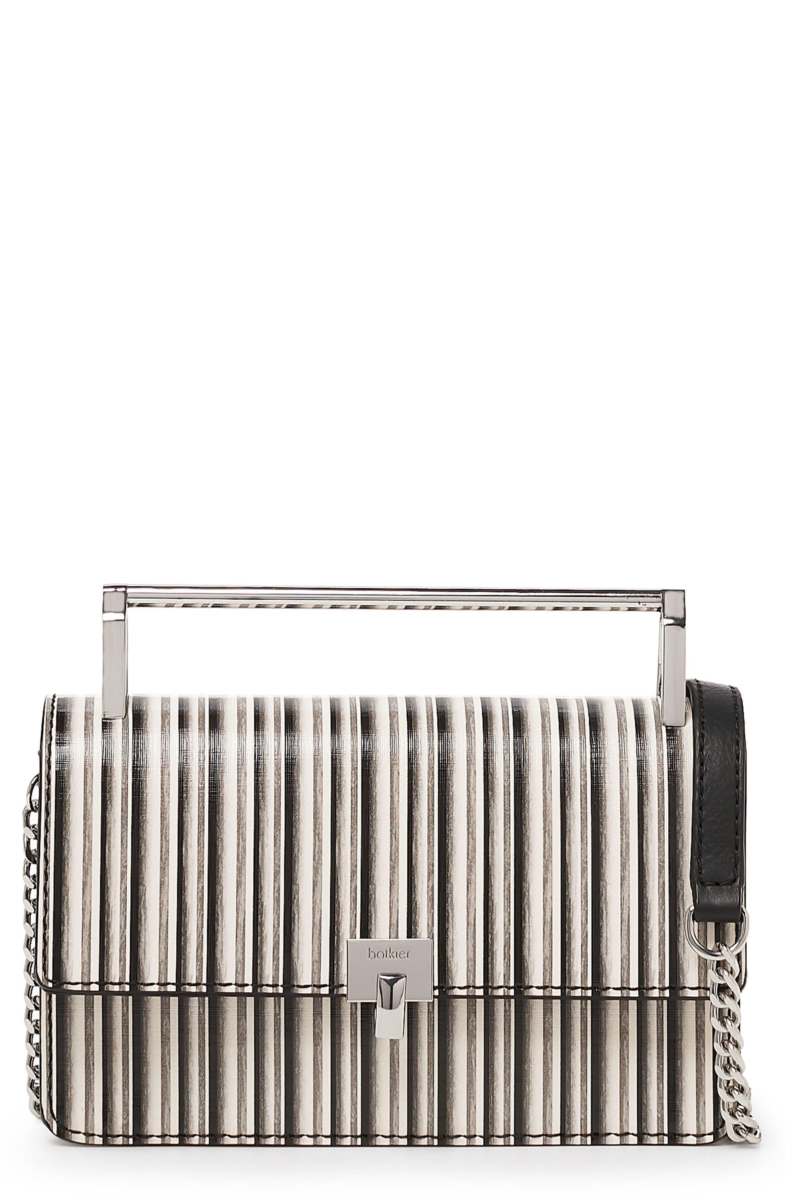 Lennox Leather Crossbody Bag,                         Main,                         color, BLACK STRIPE
