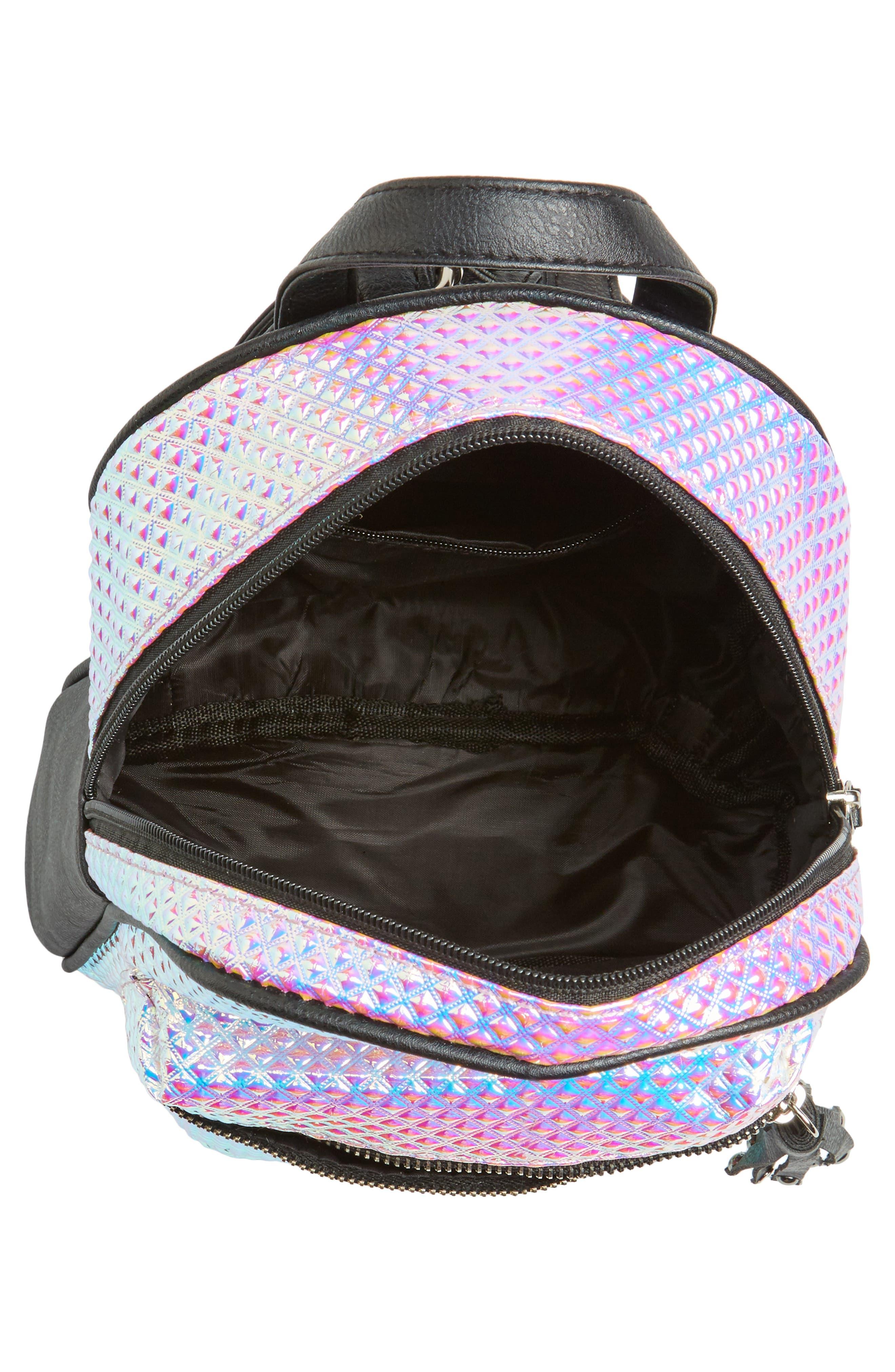 Hologram Mini Backpack,                             Alternate thumbnail 3, color,                             100