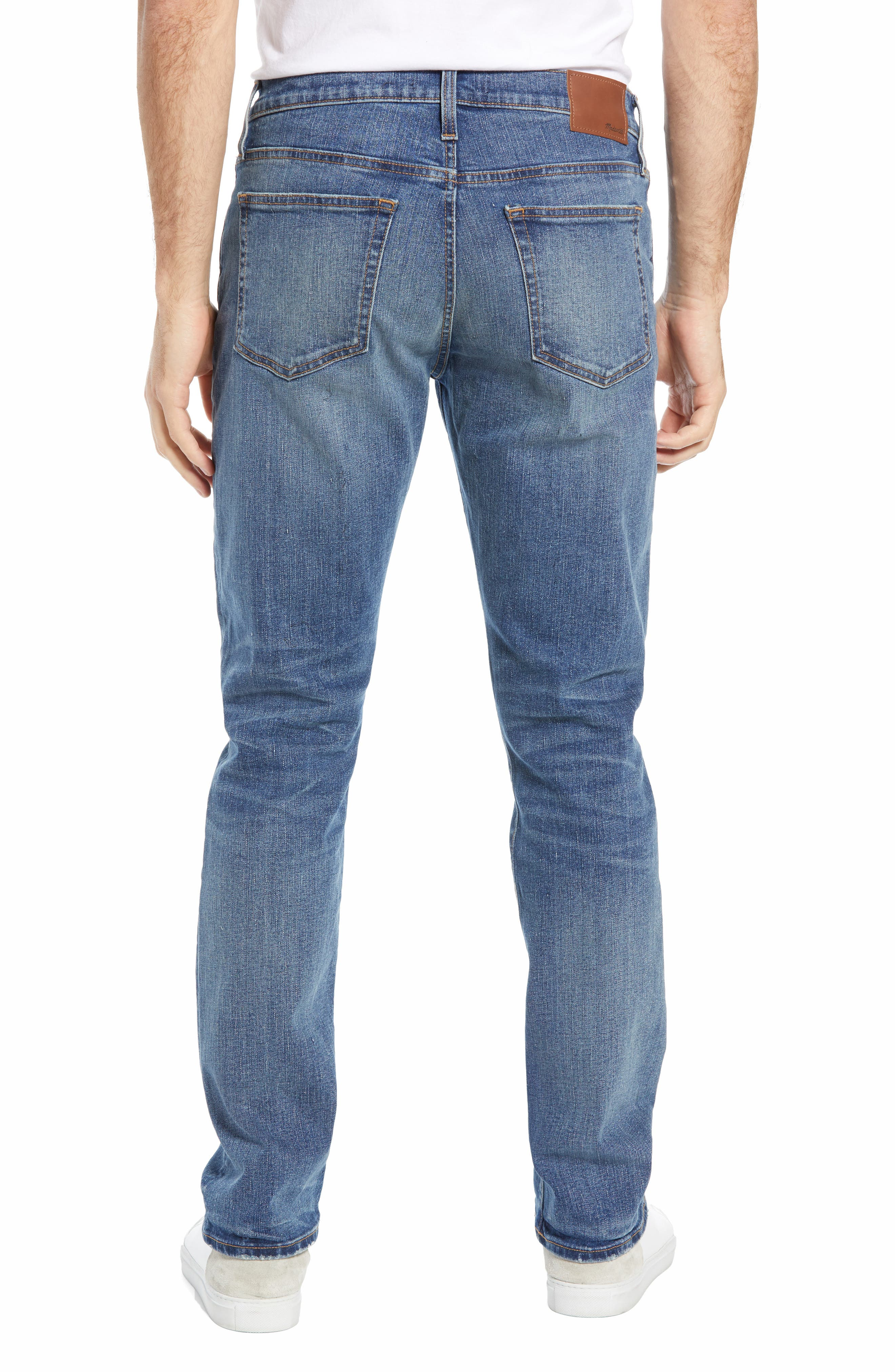 MADEWELL,                             Straight Leg Jeans,                             Alternate thumbnail 2, color,                             ARCWOOD