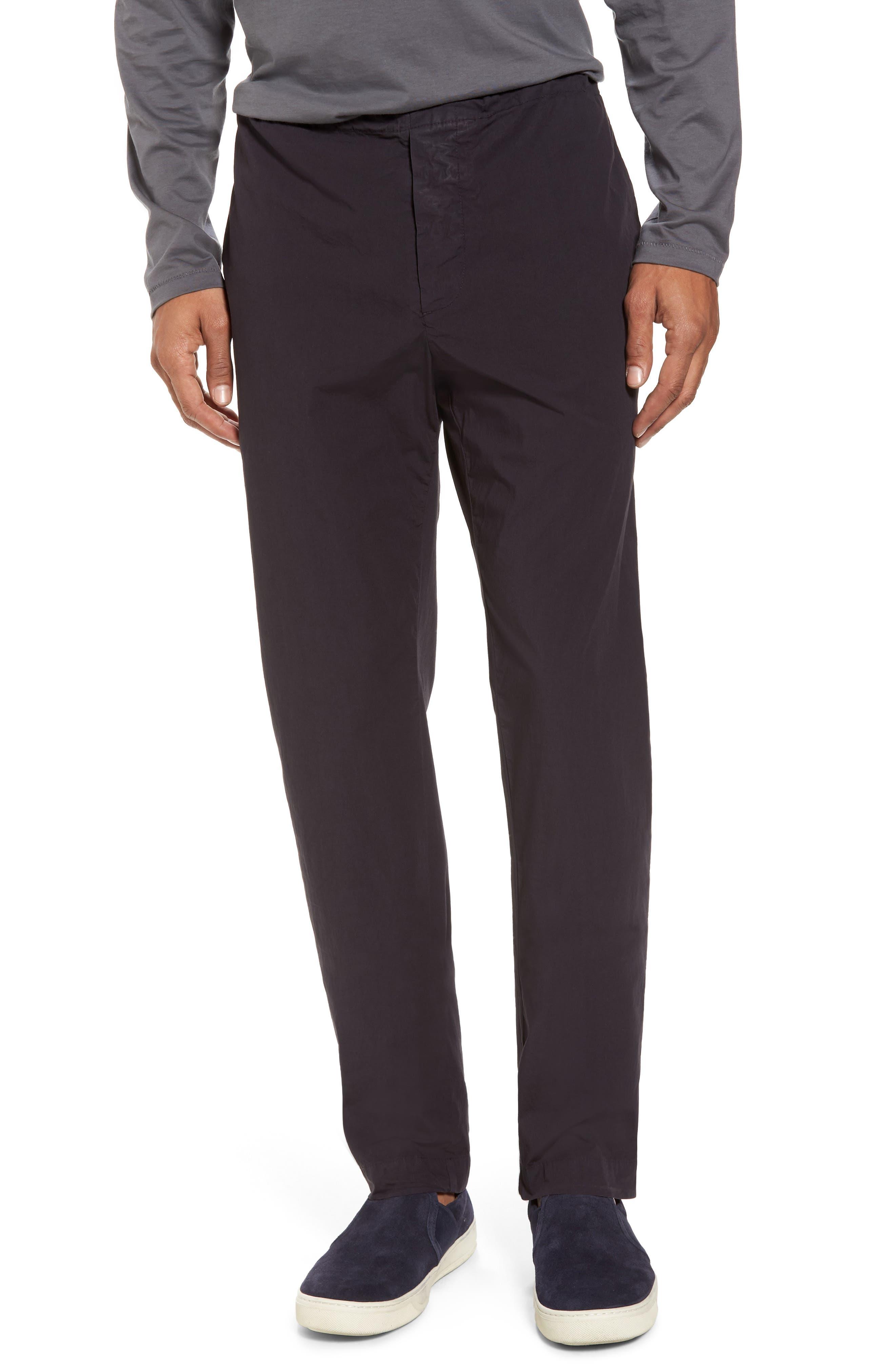 Slim Stretch Poplin Drawcord Pants,                         Main,                         color, 001