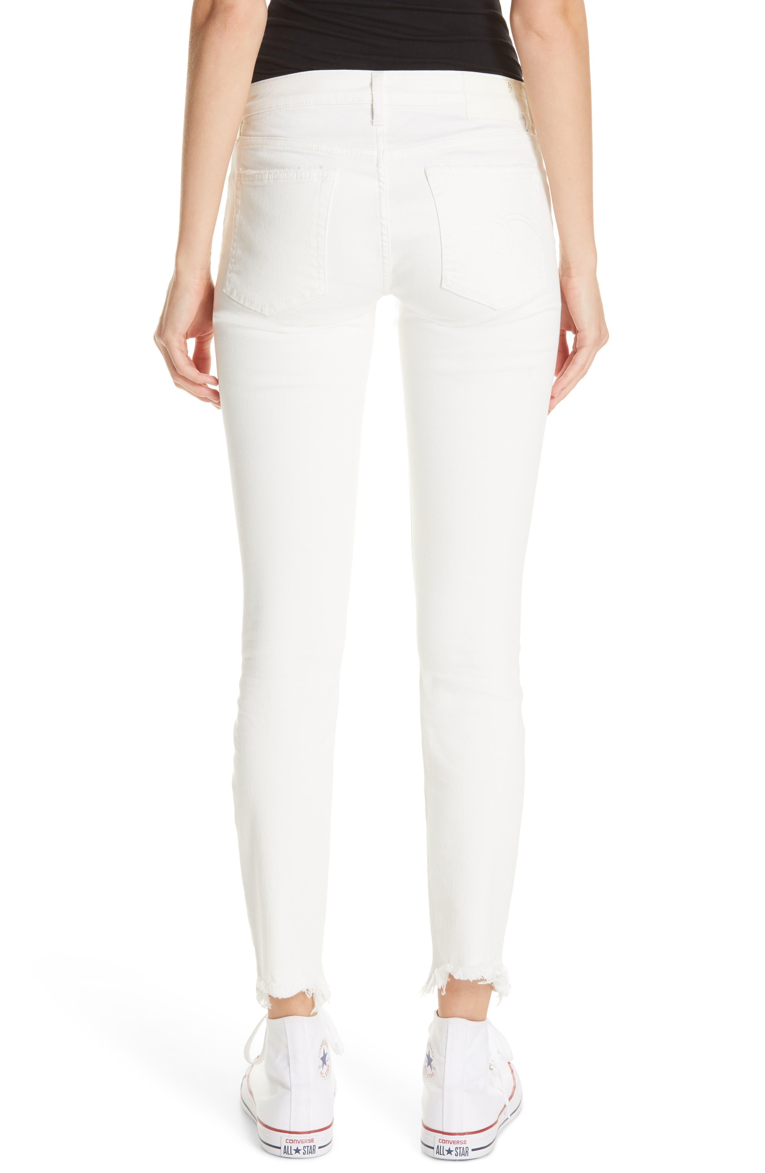 R13,                             Allison Distressed Skinny Jeans,                             Alternate thumbnail 2, color,                             GARRET WHITE