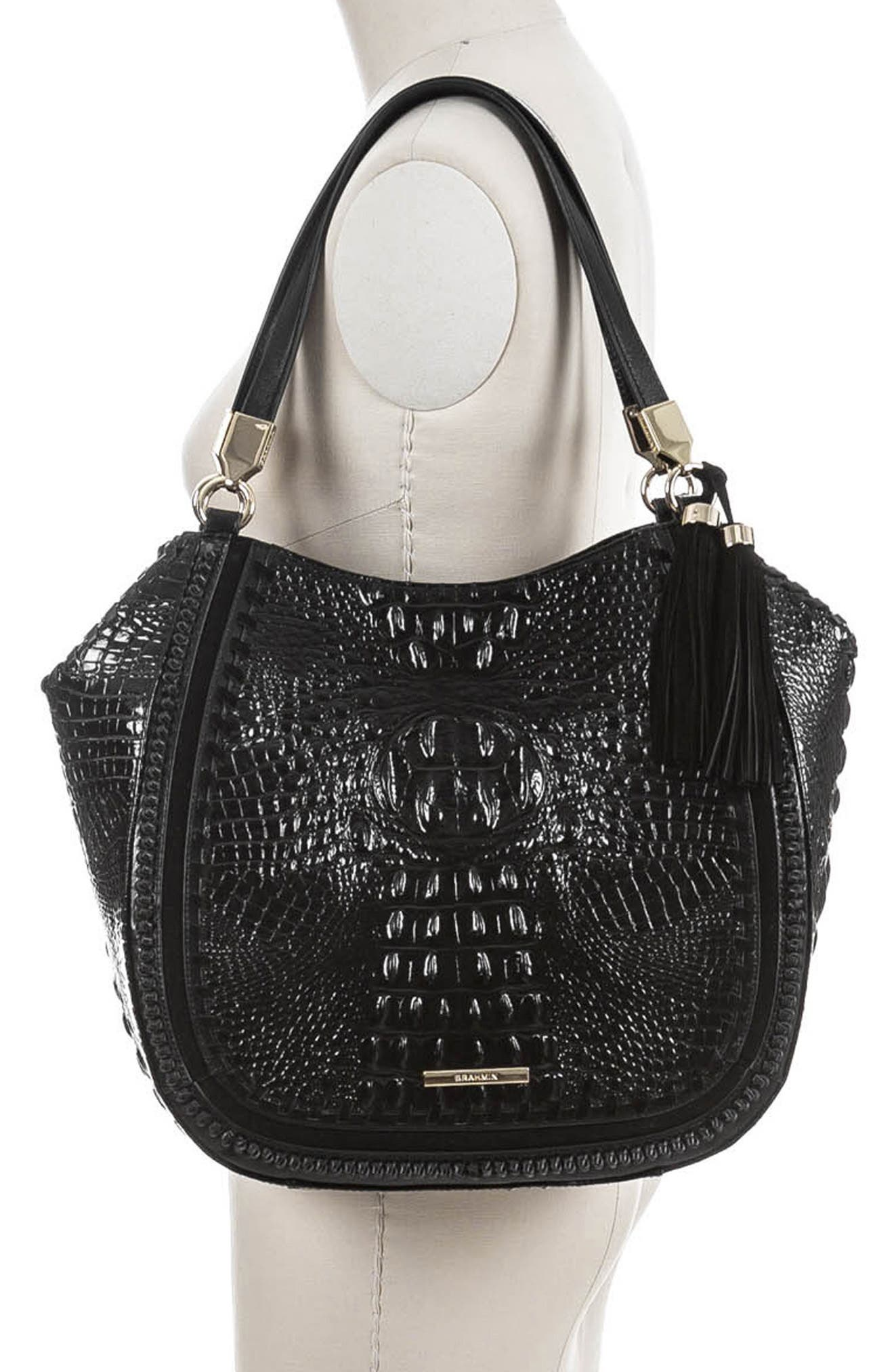 Marianna Leather Tote,                             Alternate thumbnail 2, color,                             BLACK