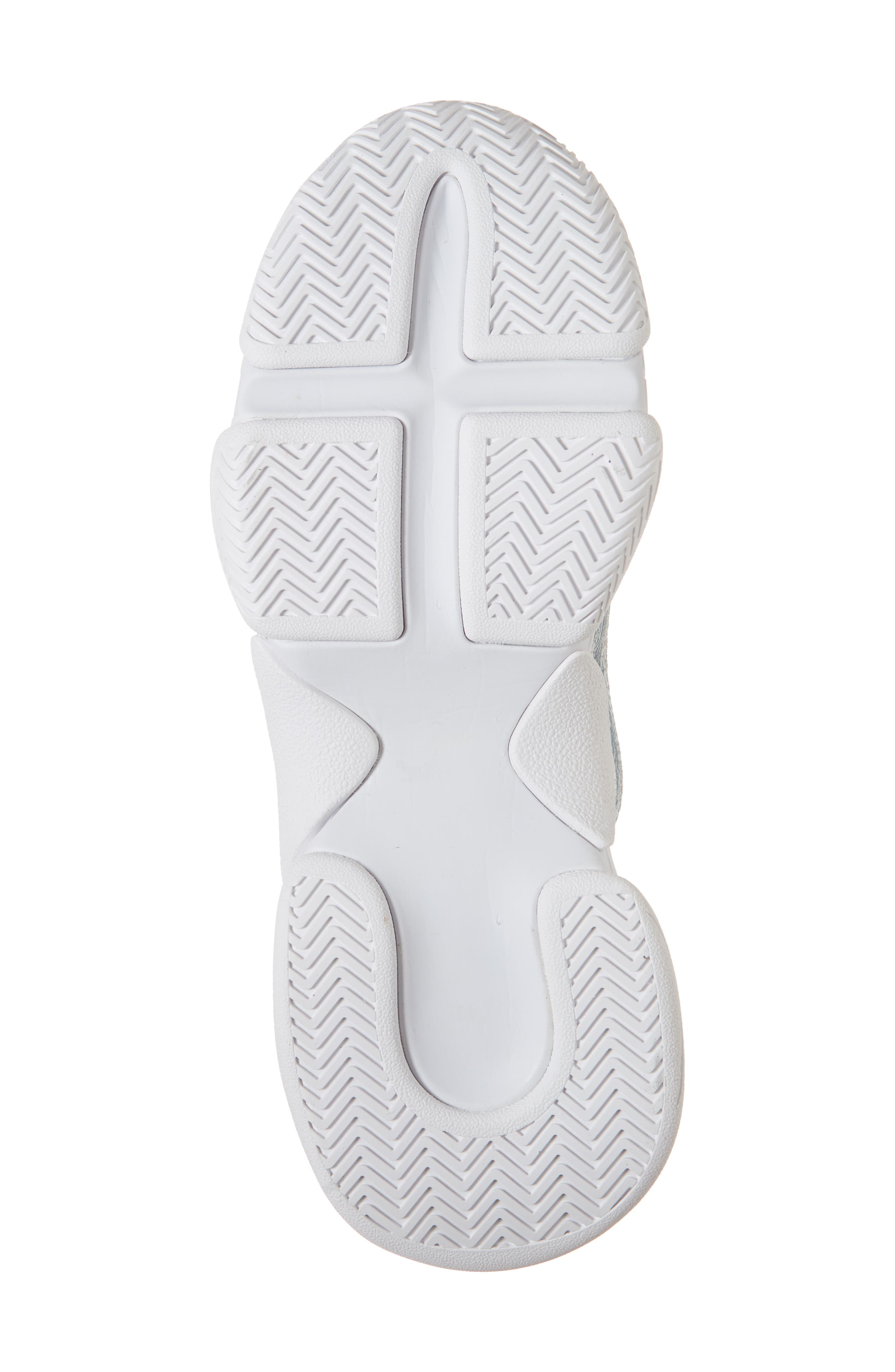 Hotspot Lace-Up Sneaker,                             Alternate thumbnail 6, color,                             SILVER CRINKLE