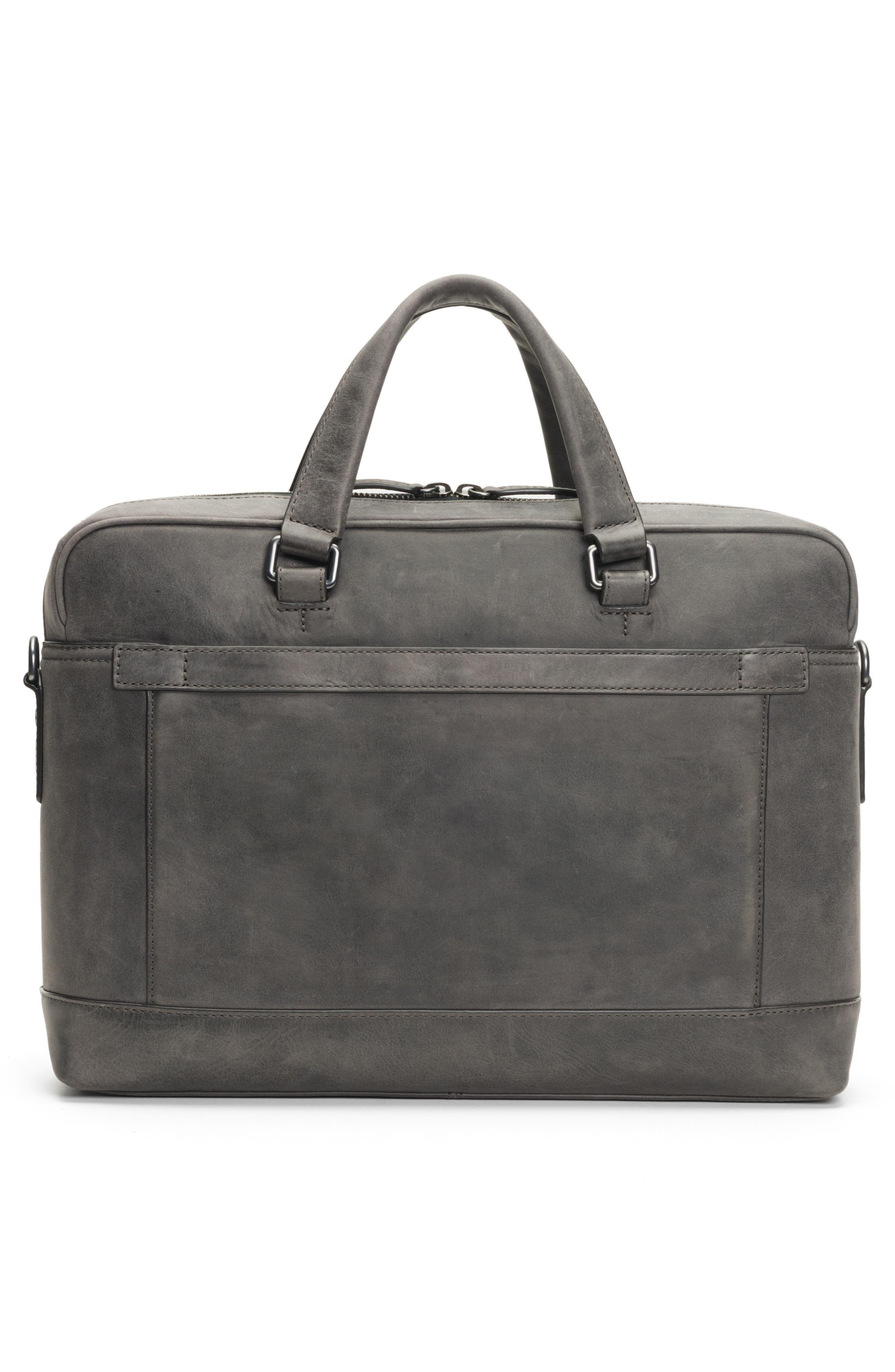 Oliver Leather Briefcase,                             Alternate thumbnail 3, color,                             SLATE