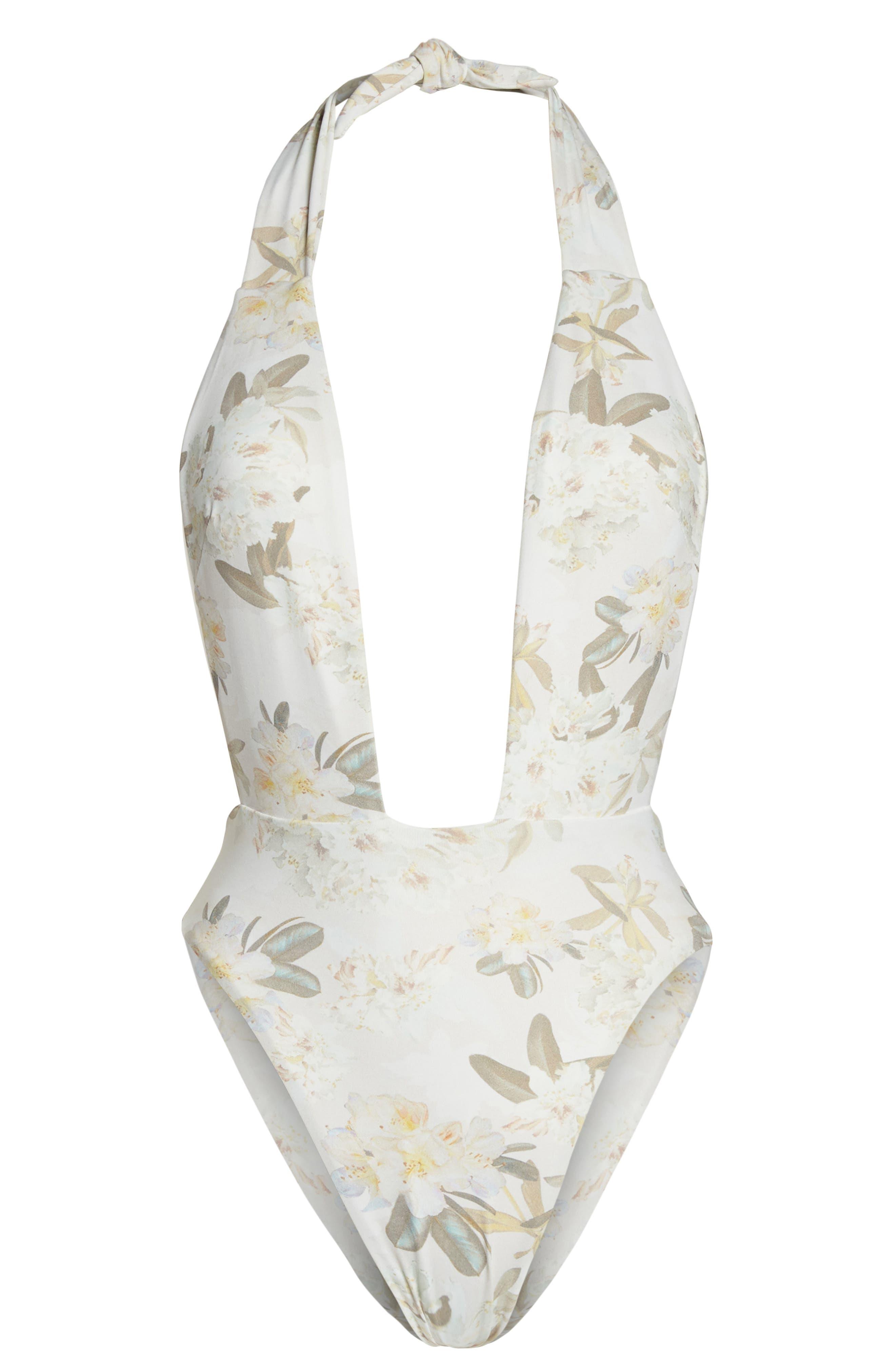 Tropex One-Piece Swimsuit,                             Alternate thumbnail 6, color,                             ETE FLORAL WHITE