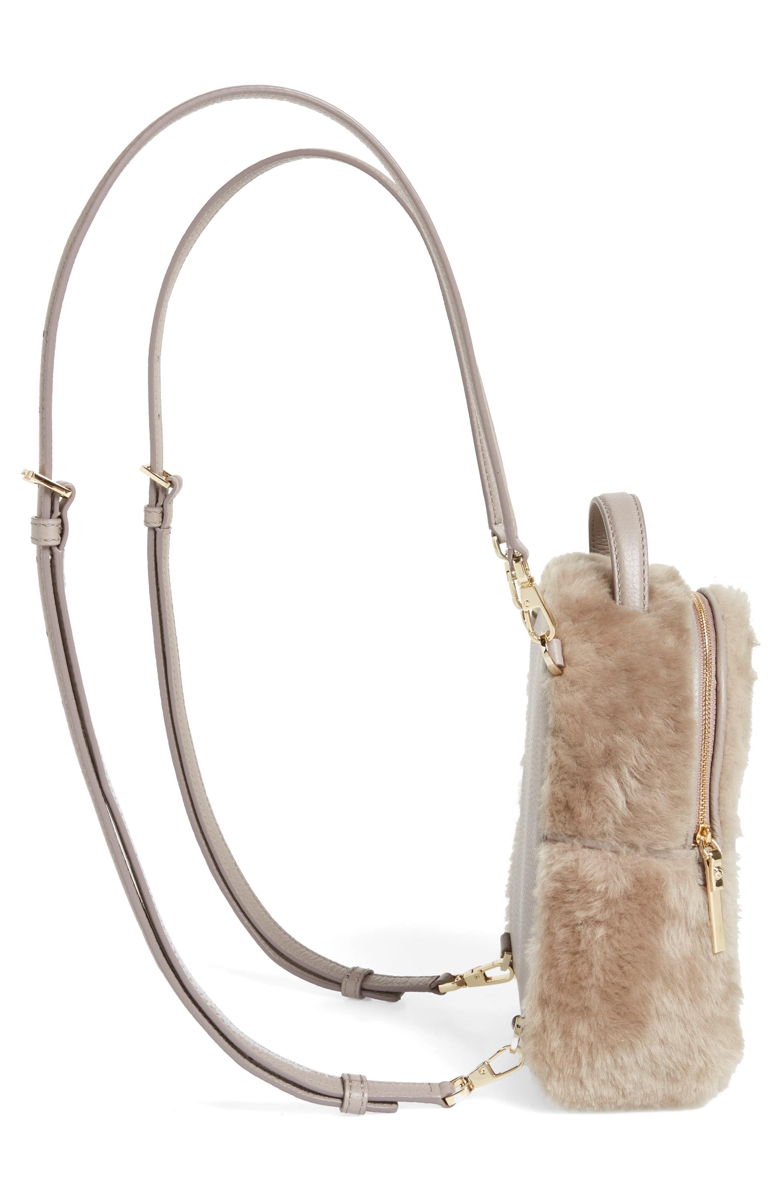 finer things merry genuine shearling convertible backpack,                             Alternate thumbnail 5, color,