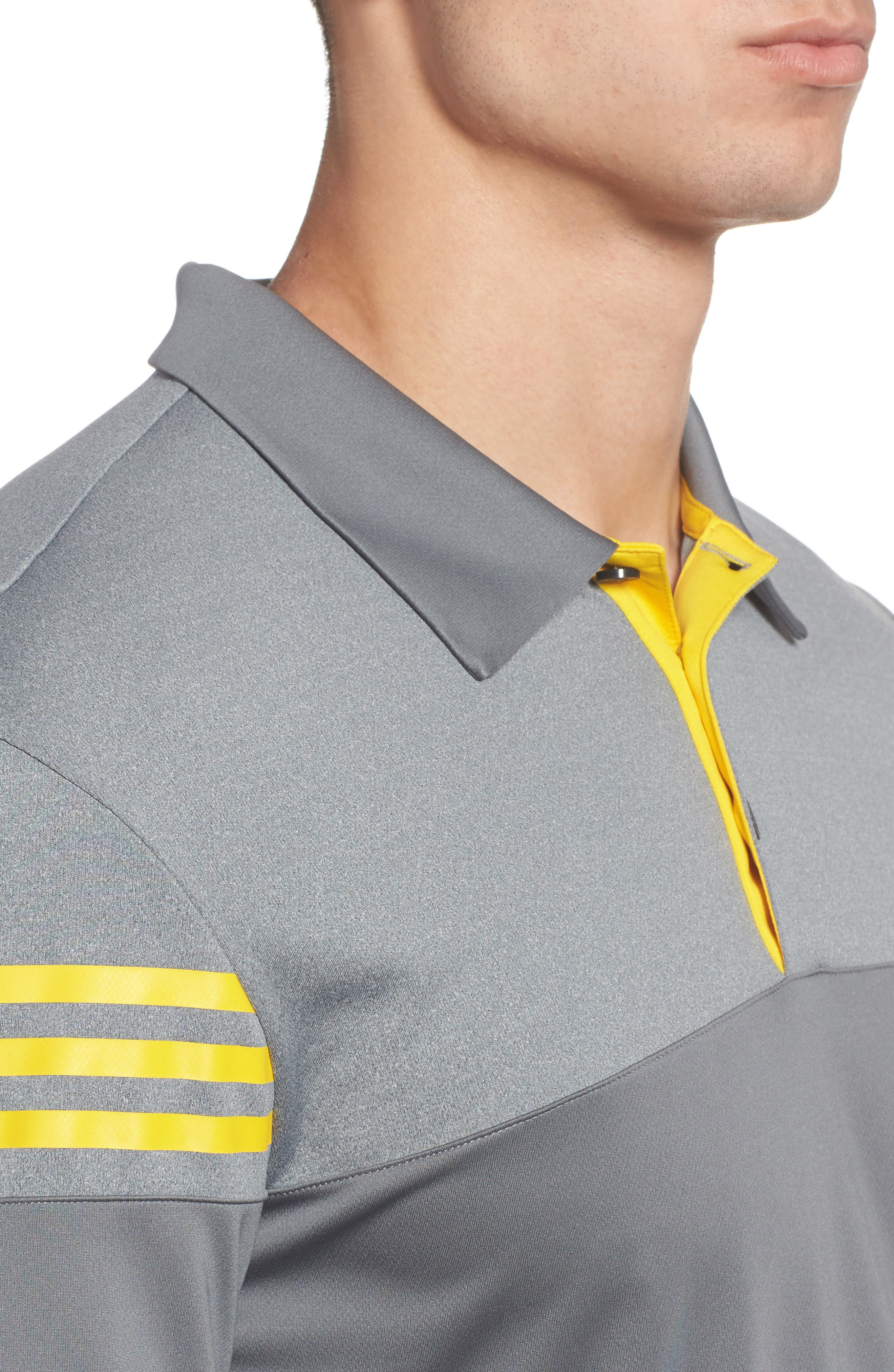Regular Fit 3-Stripes Golf Polo,                             Alternate thumbnail 4, color,                             086