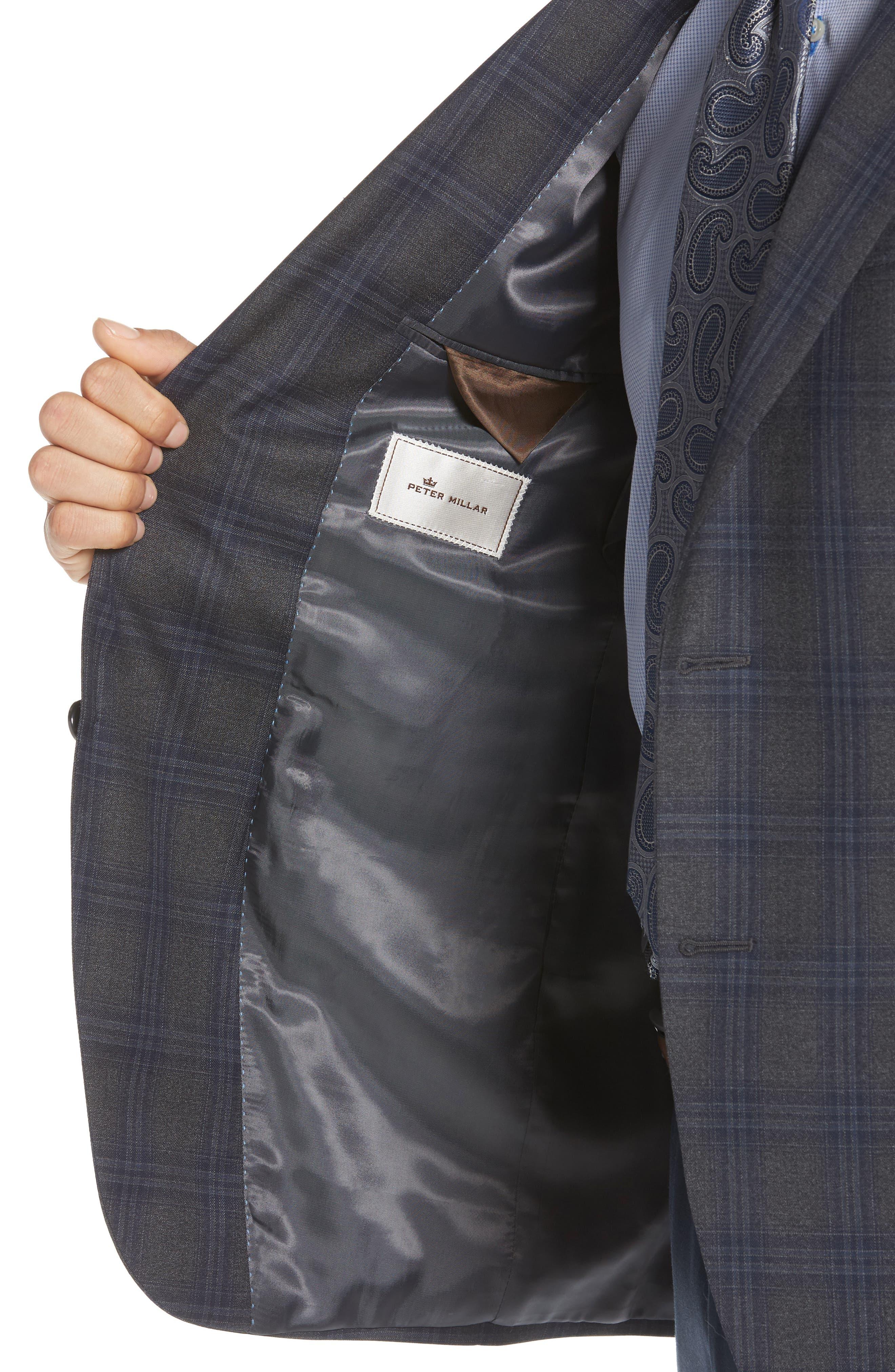 PETER MILLAR,                             Classic Fit Plaid Wool Sport Coat,                             Alternate thumbnail 4, color,                             020