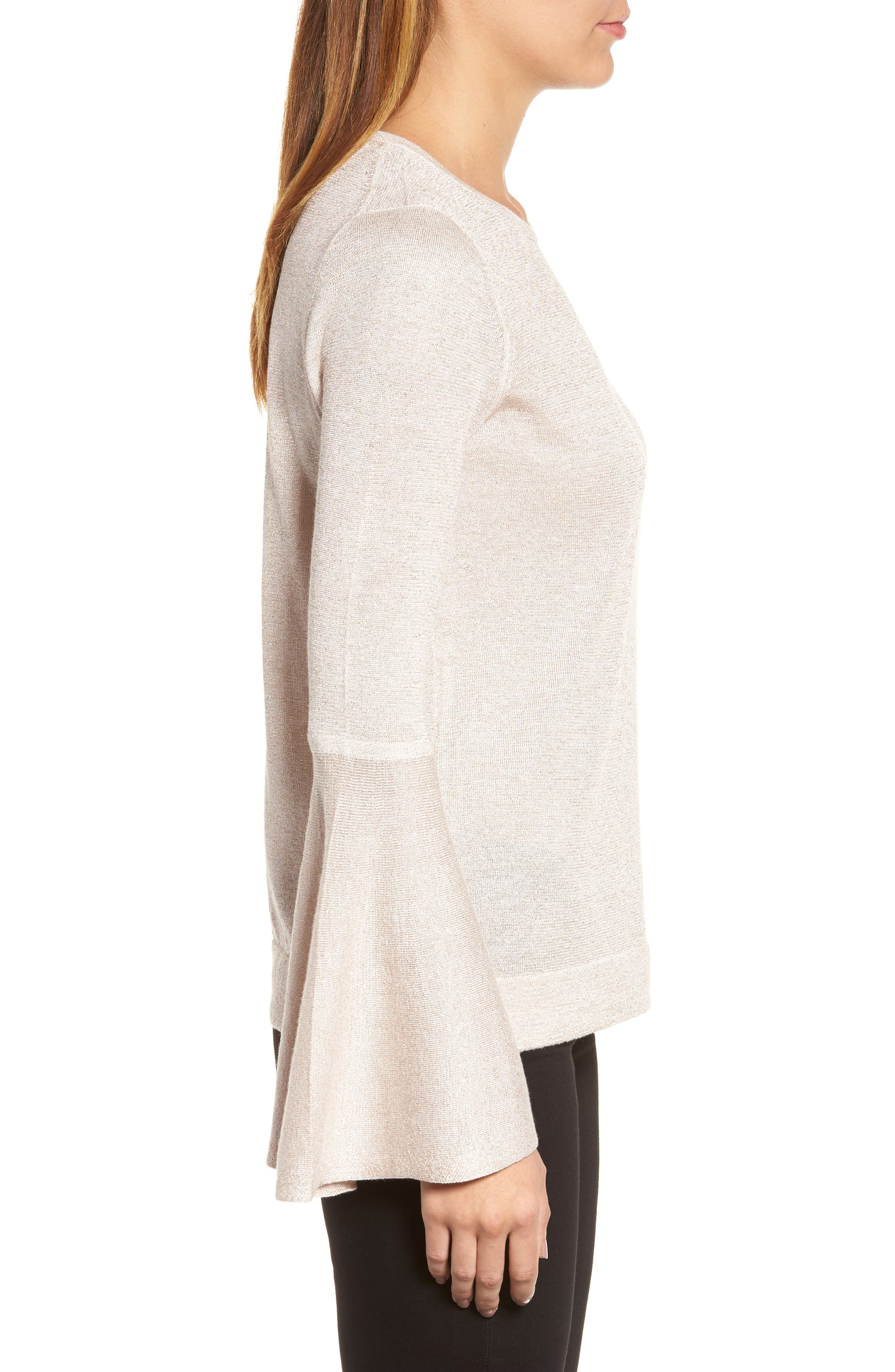 Bell Sleeve Sweater,                             Alternate thumbnail 15, color,
