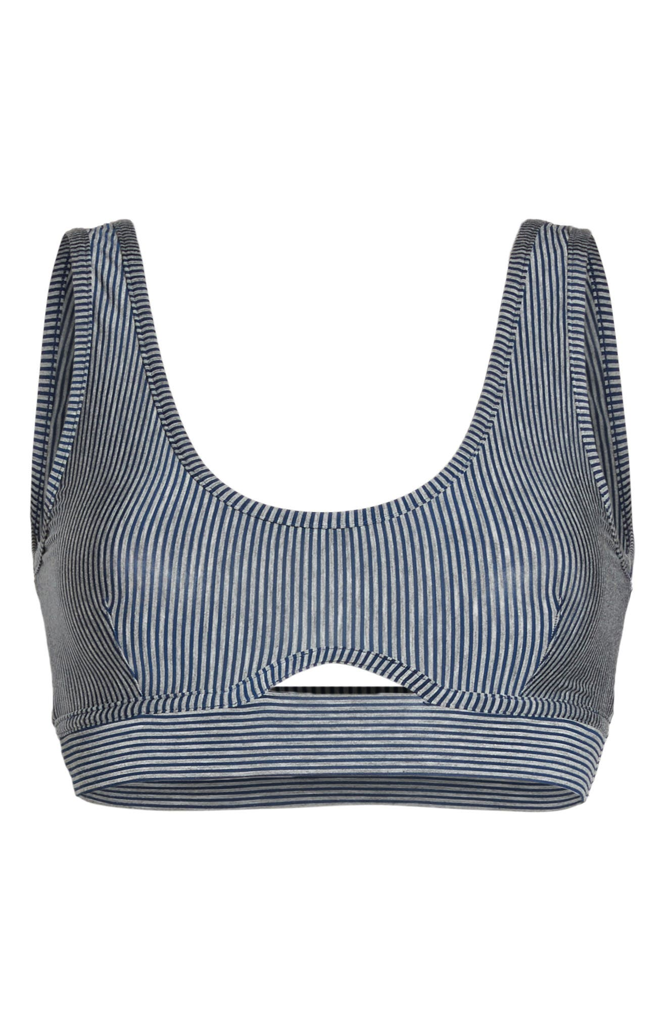 Amalfi Bralette,                             Alternate thumbnail 7, color,                             HEATHER GREY/ NAVY