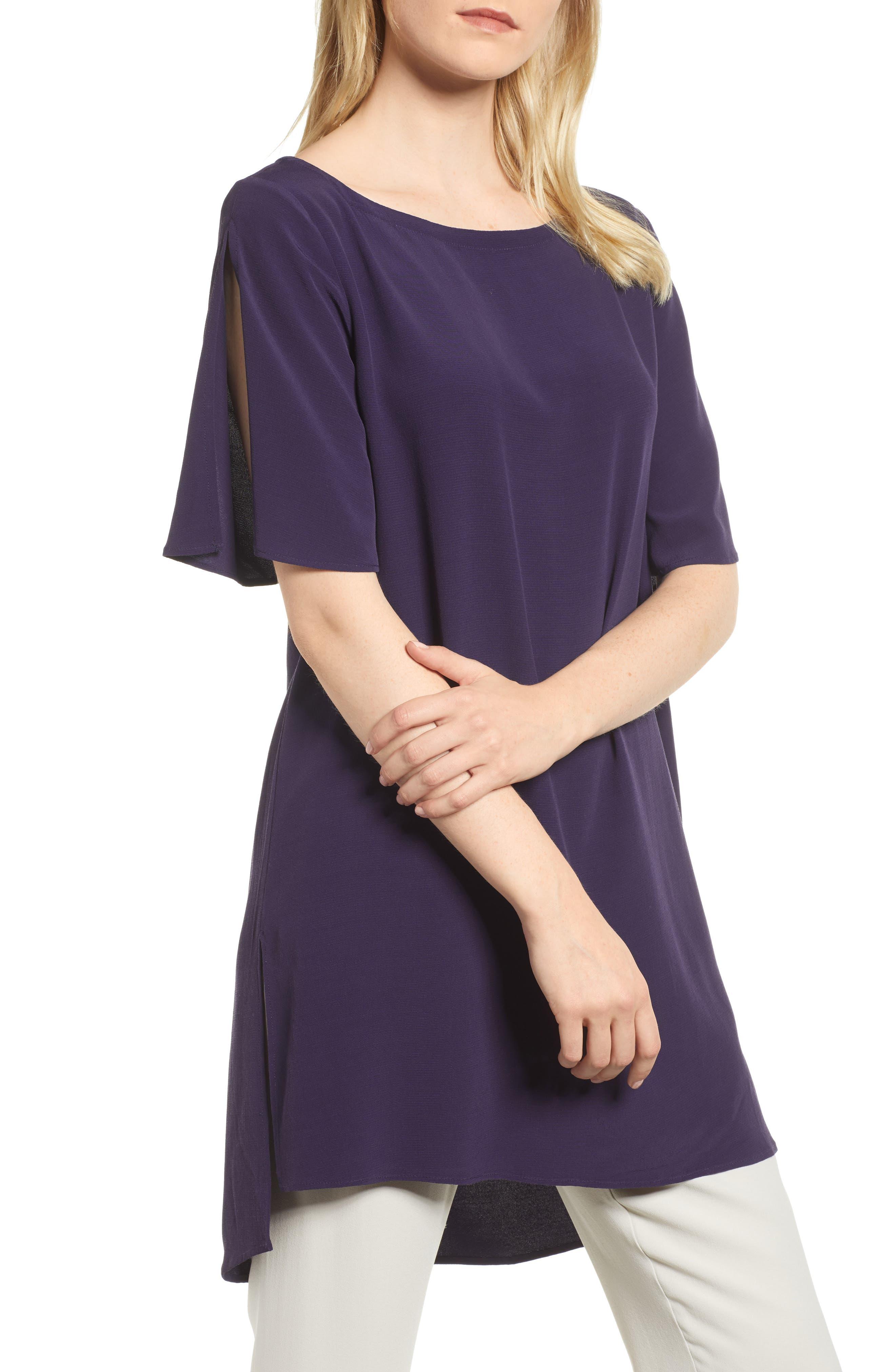 Split Sleeve Crepe Tunic,                         Main,                         color, 465