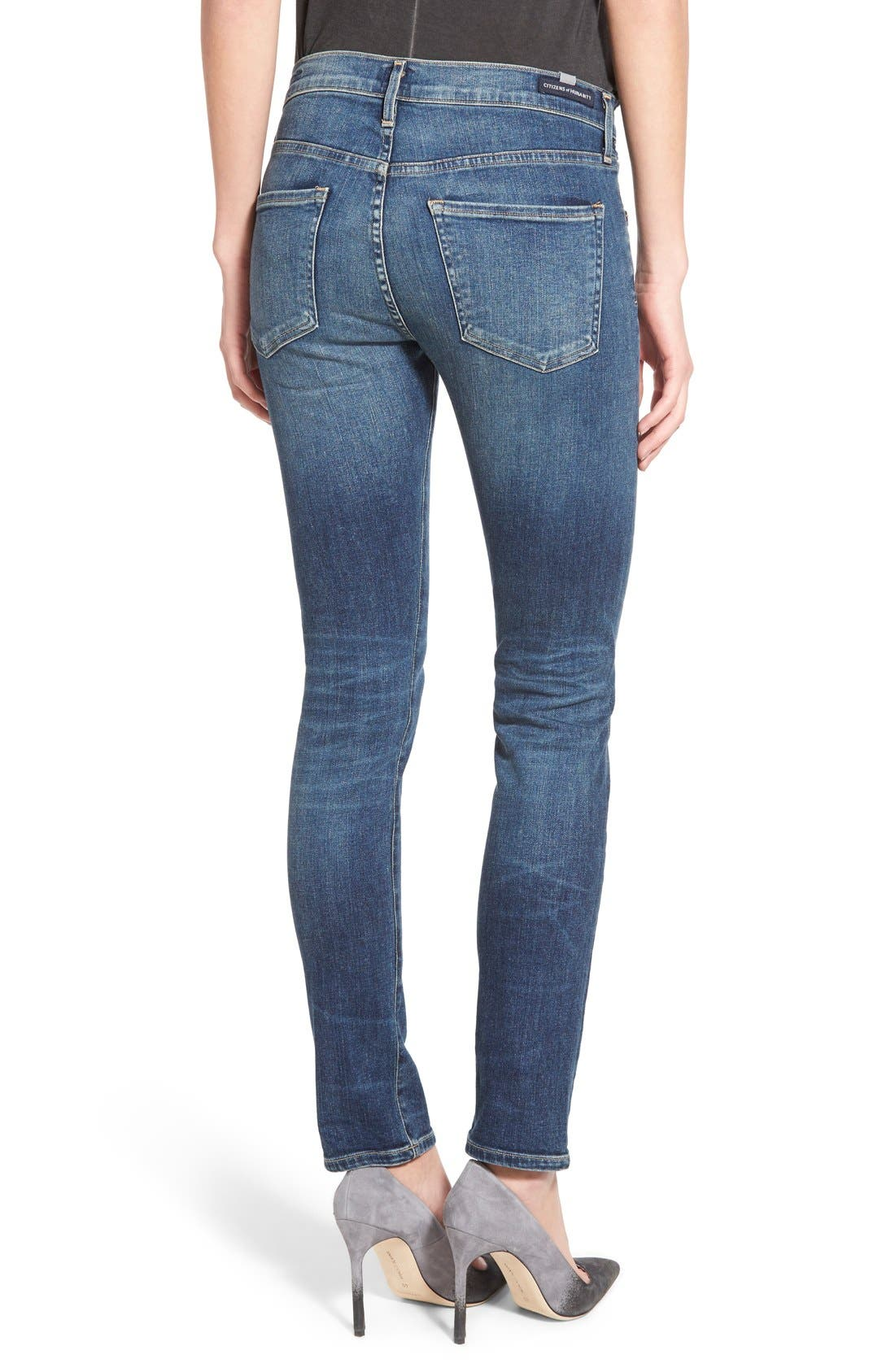 'Agnes' Slim Straight Leg Jeans,                             Alternate thumbnail 2, color,                             400