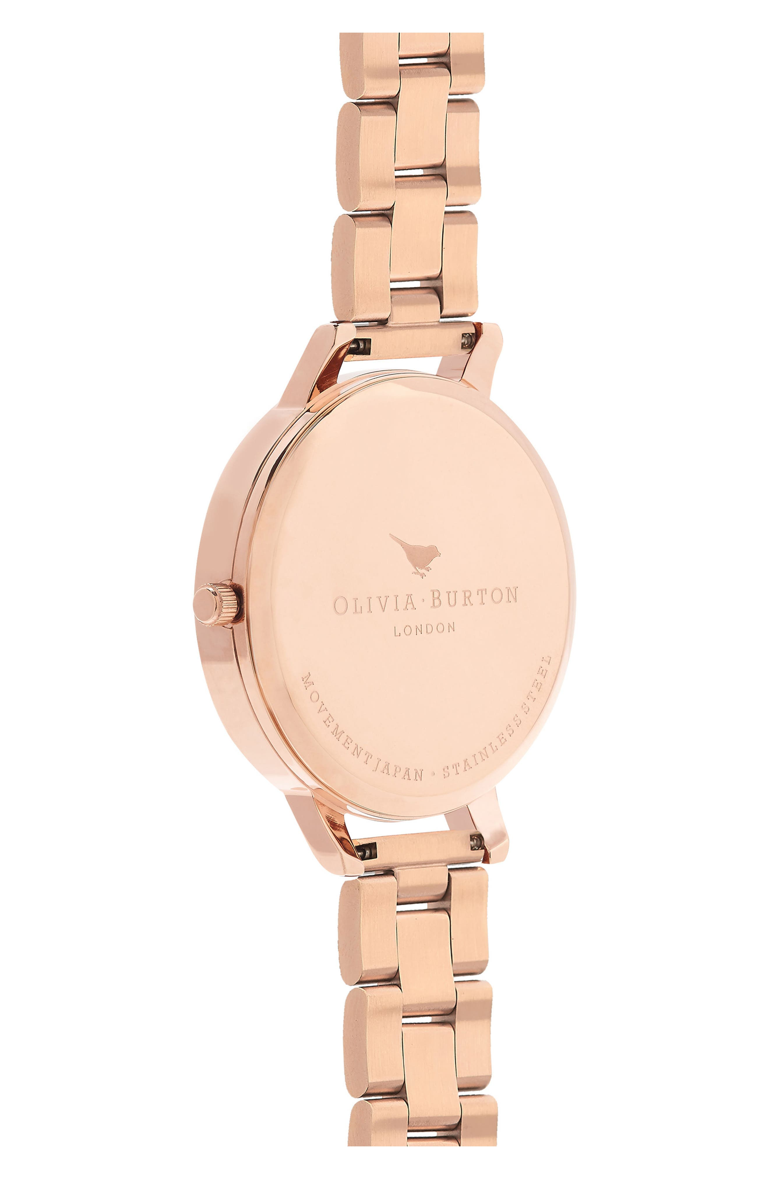 Watercolour Florals Bracelet Watch, 38mm,                             Alternate thumbnail 2, color,                             ROSE GOLD/ SILVER/ ROSE GOLD