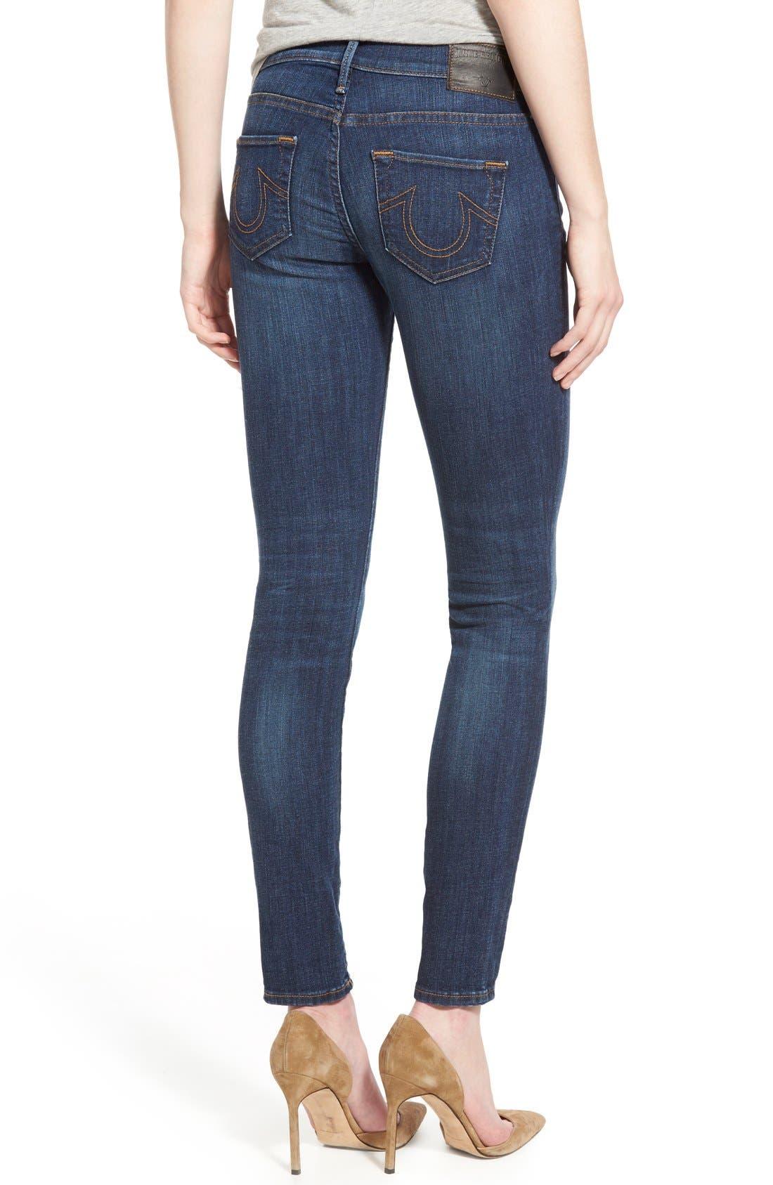 'Halle' Skinny Jeans,                             Alternate thumbnail 2, color,                             402