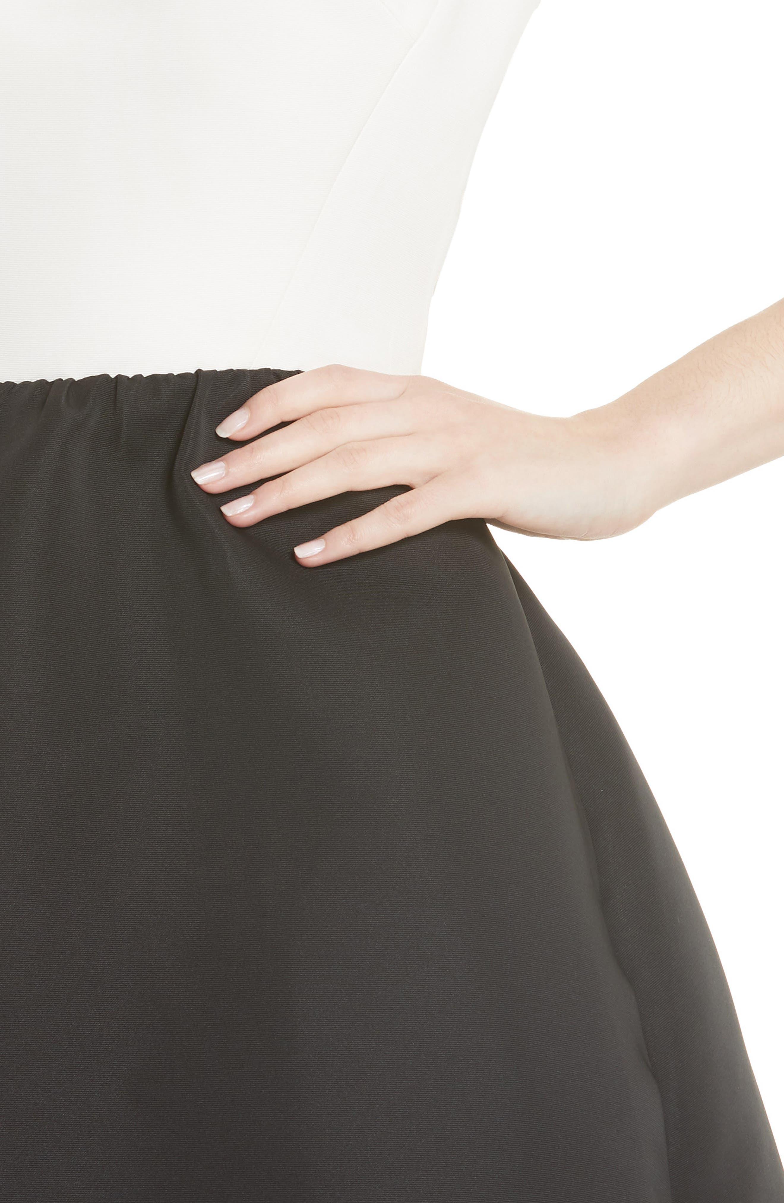 bow back mini dress,                             Alternate thumbnail 4, color,                             017