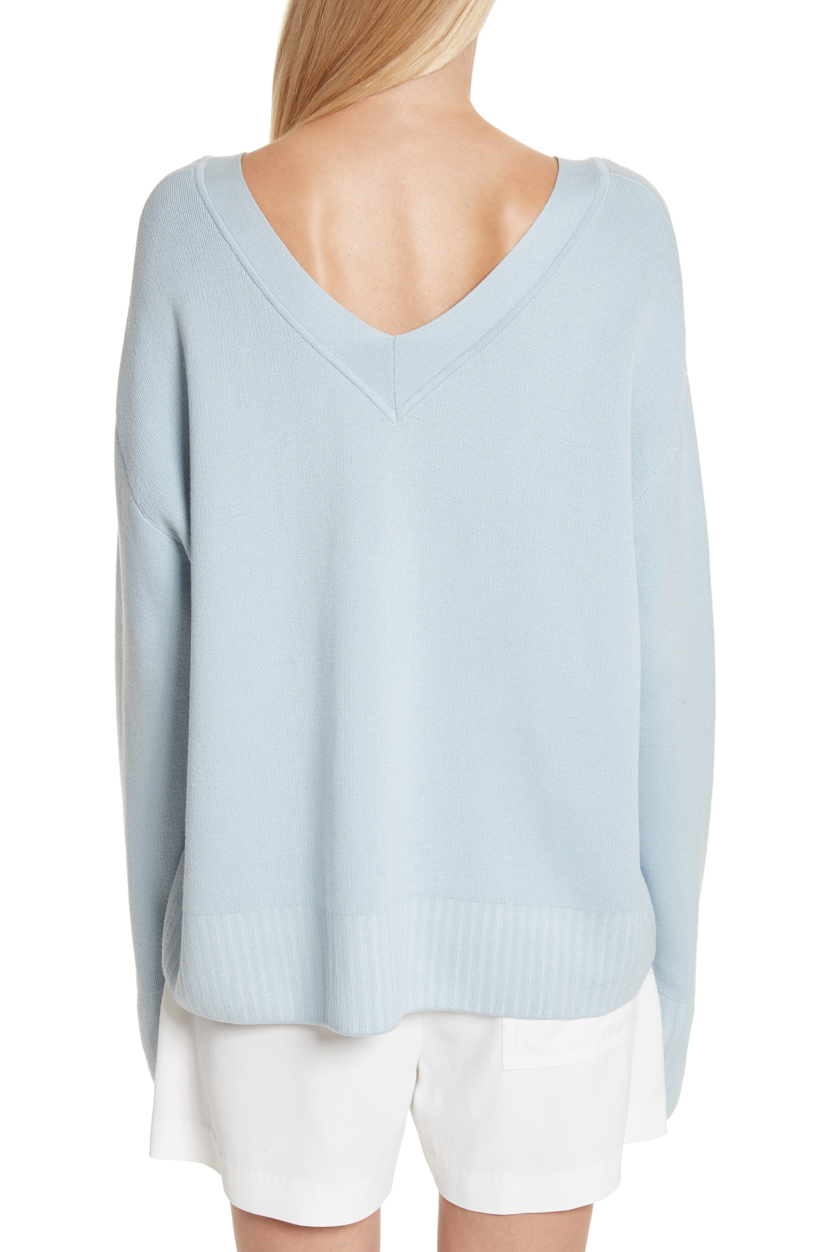 Silk & Cotton Blend Sweater,                             Alternate thumbnail 2, color,                             450