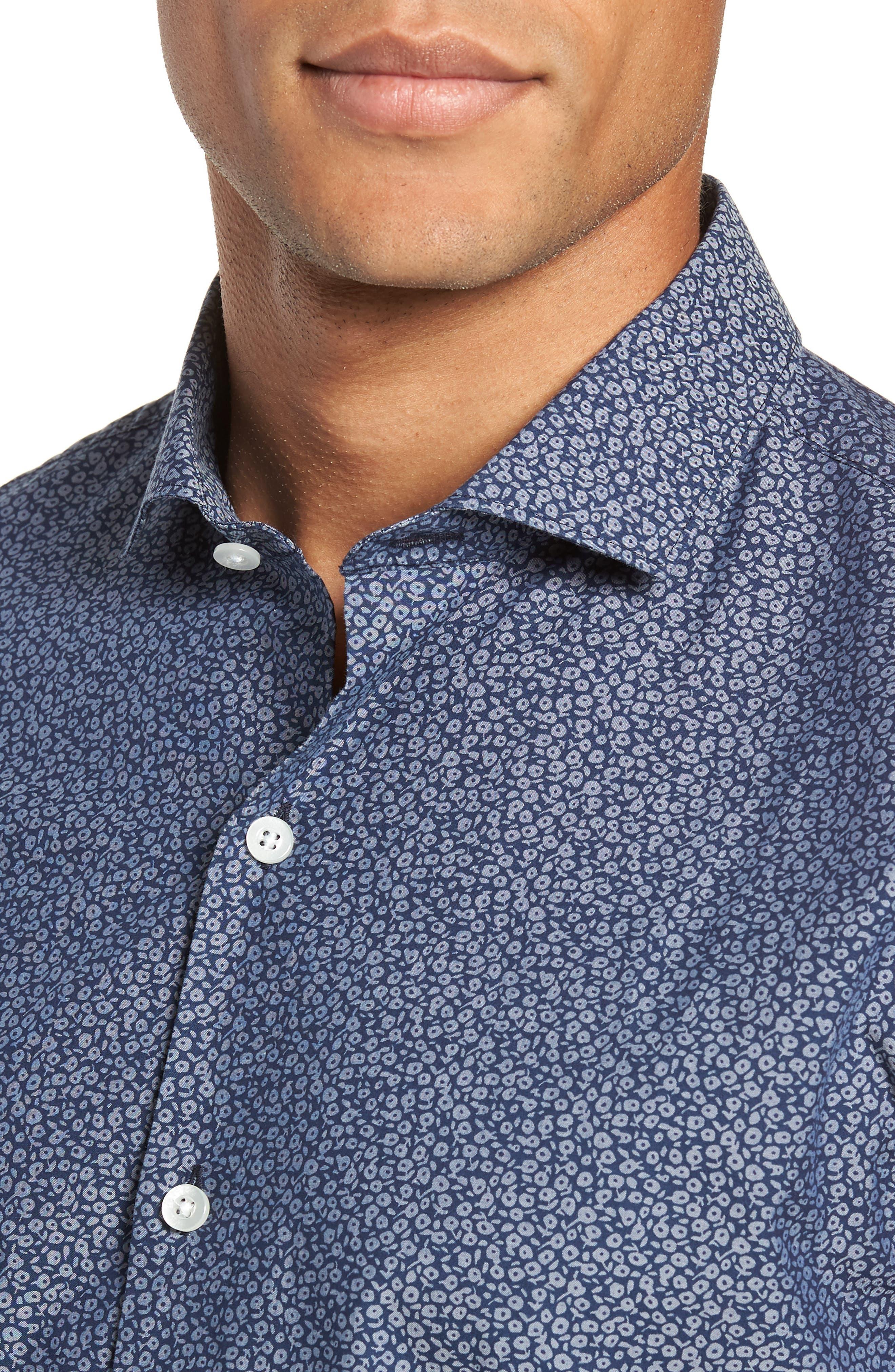 Unbutton Down Slim Fit Sport Shirt,                             Alternate thumbnail 2, color,                             CIELO FLORAL - INDIO