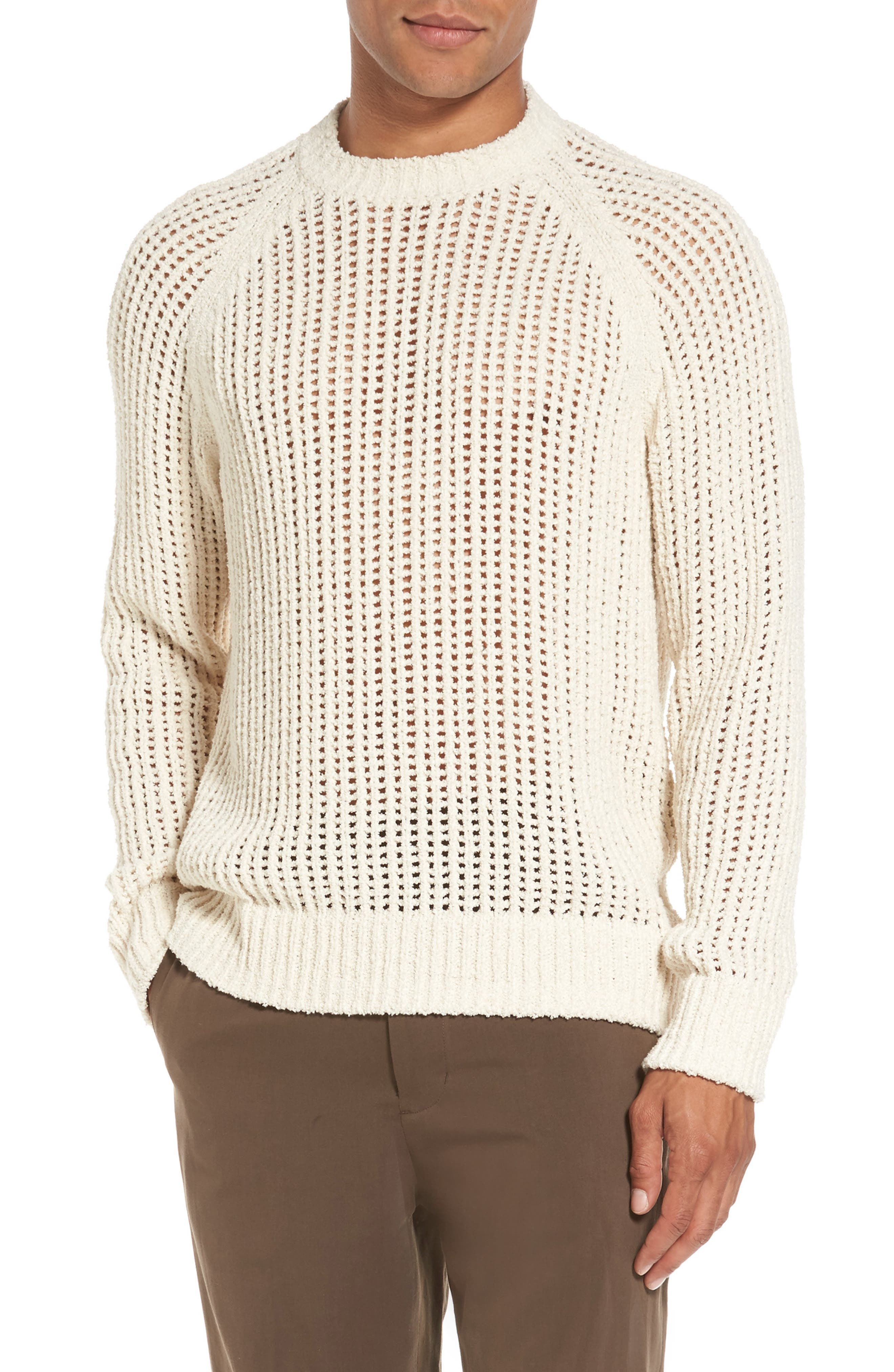 Open Weave Raglan Sweater,                             Main thumbnail 1, color,                             101