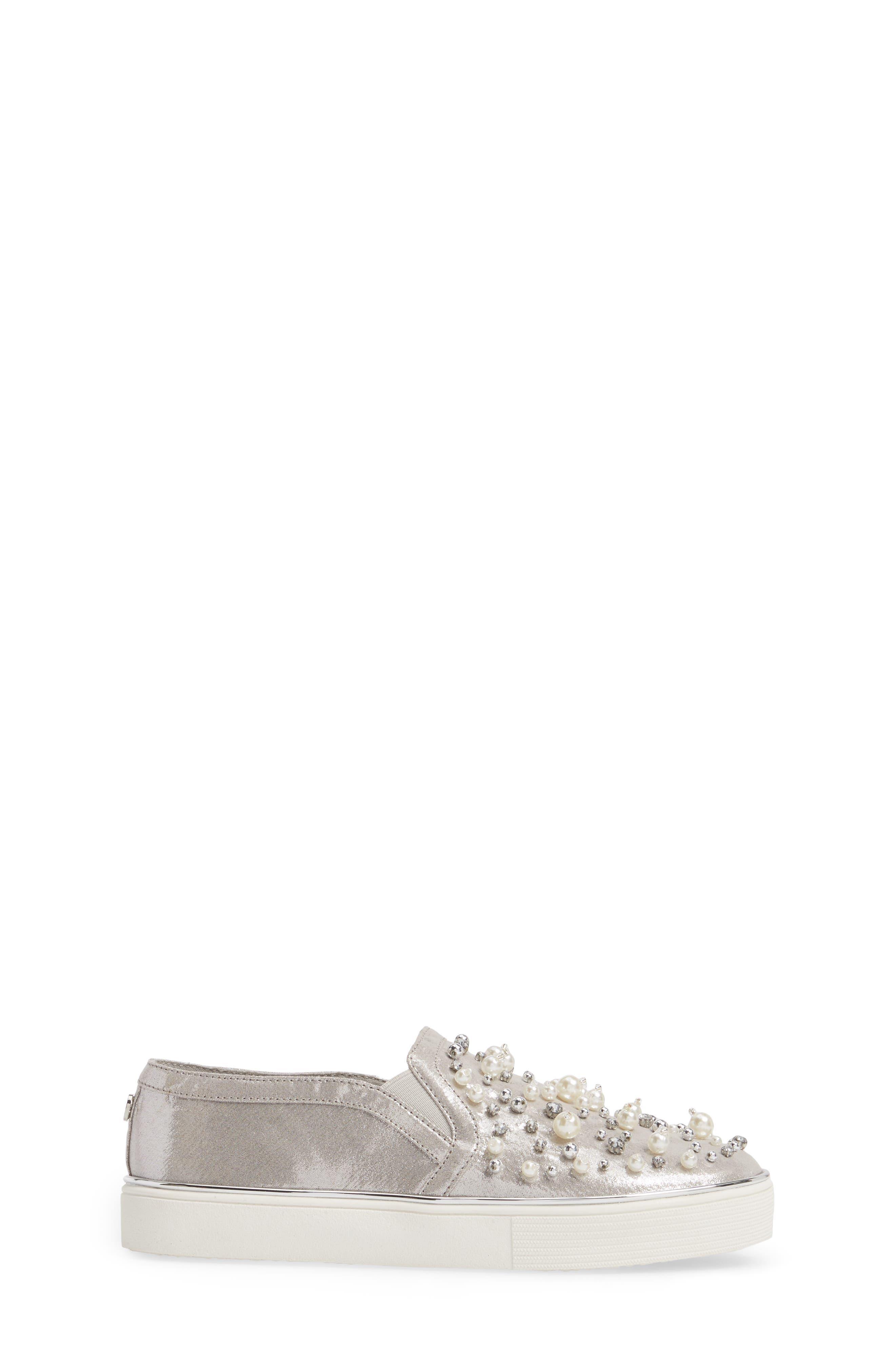 Vance Glitz Embellished Slip-On Sneaker,                             Alternate thumbnail 3, color,                             044